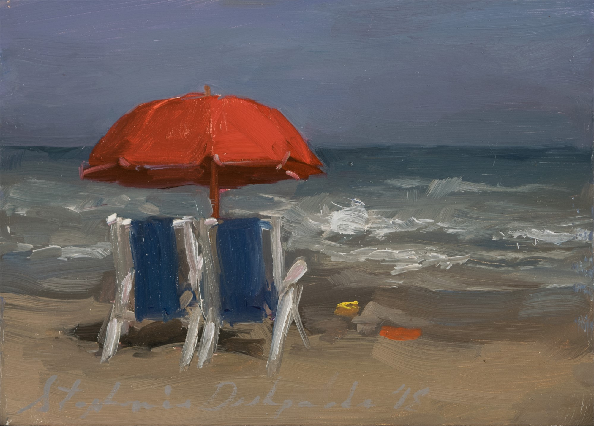 Red Umbrella by Stephanie Deshpande