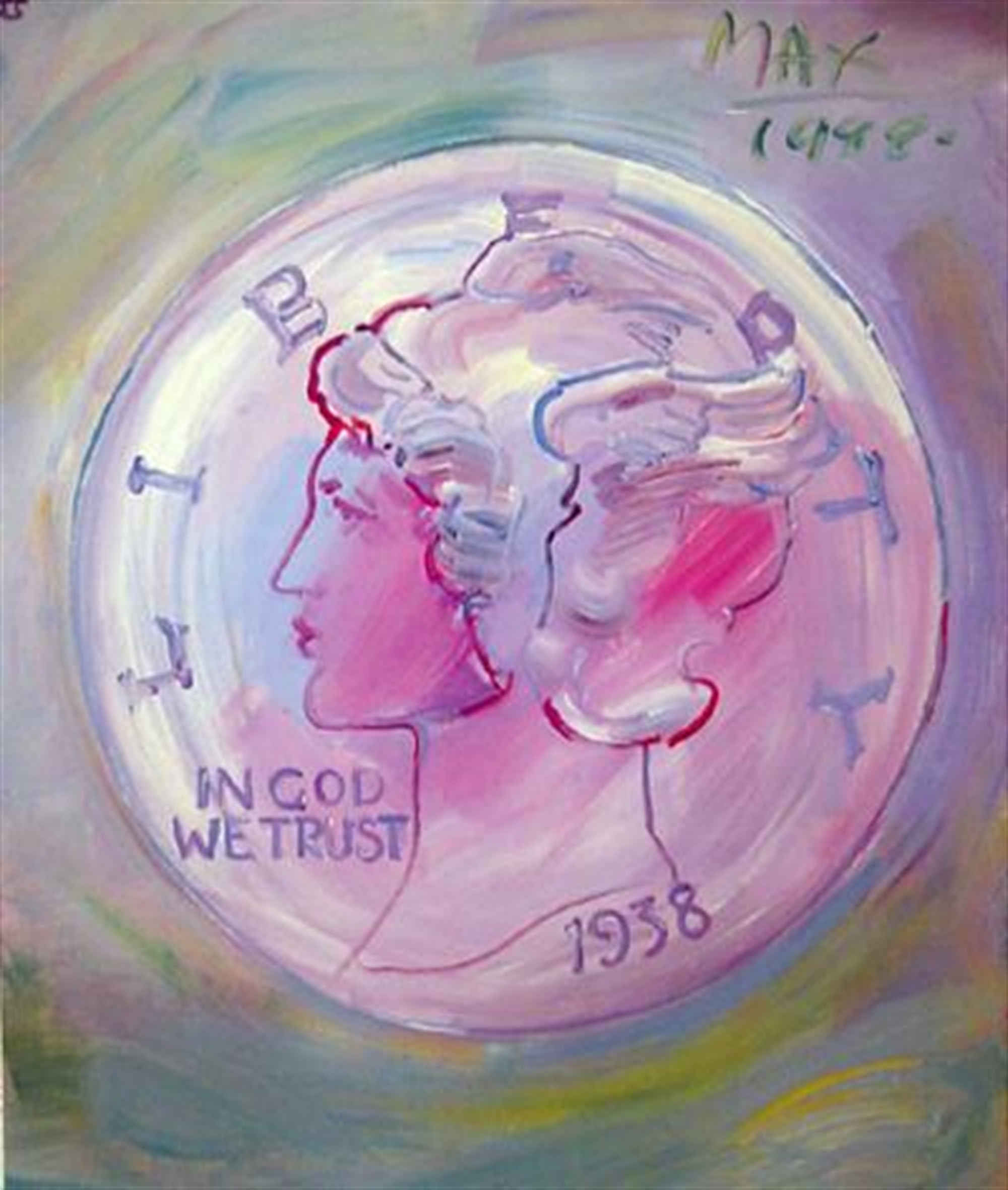 In God We Trust Liberty by Peter Max