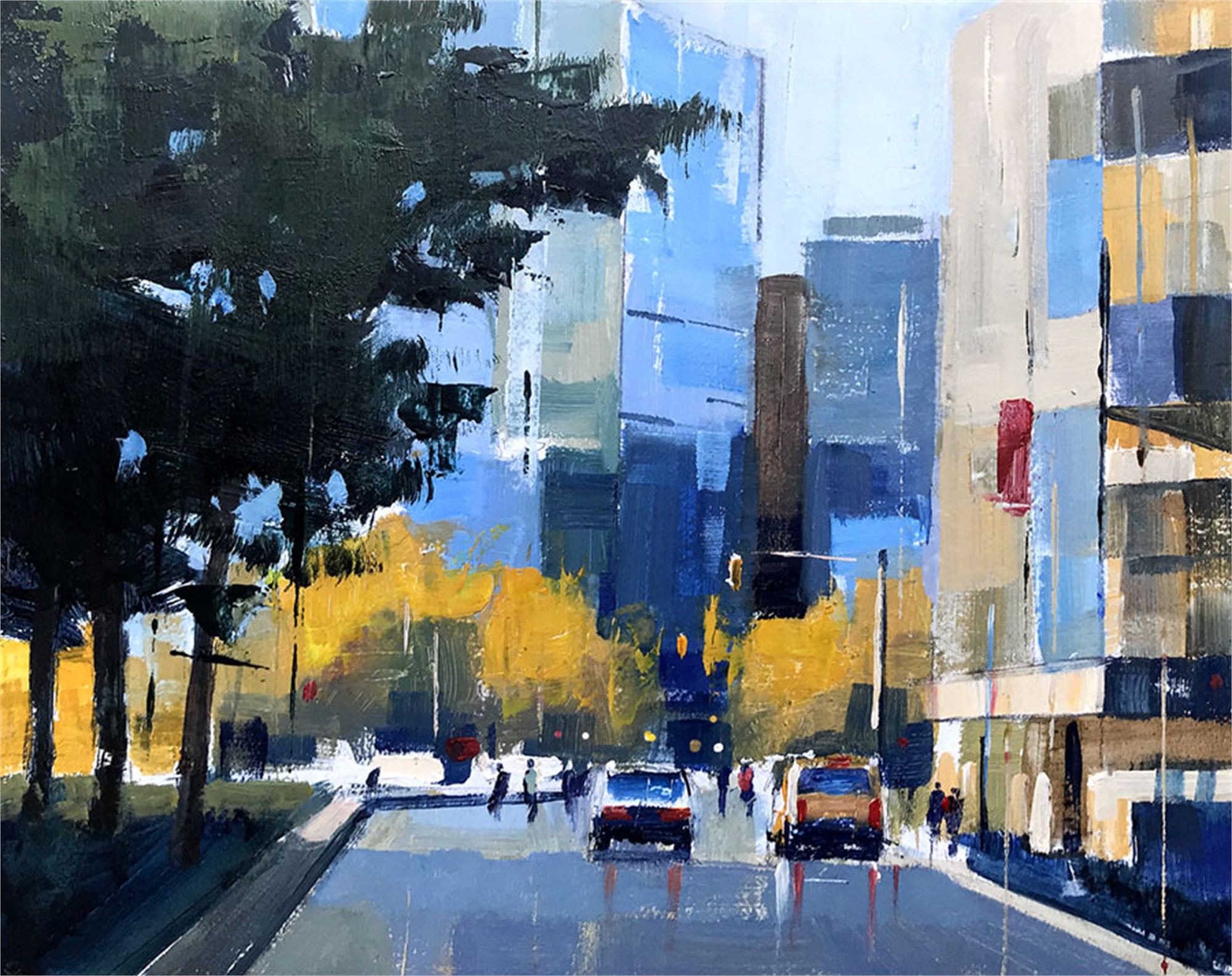 Columbus Circle by Perry Brown