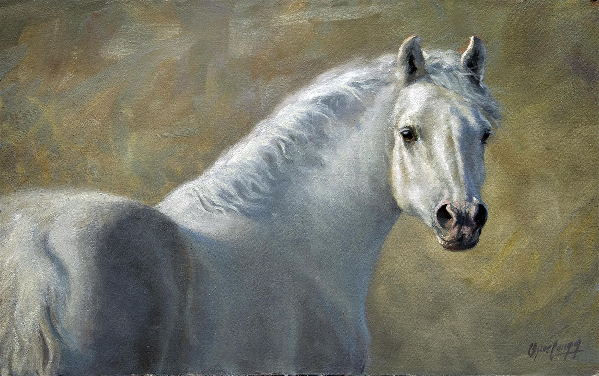 White Horse by Oscar Campos