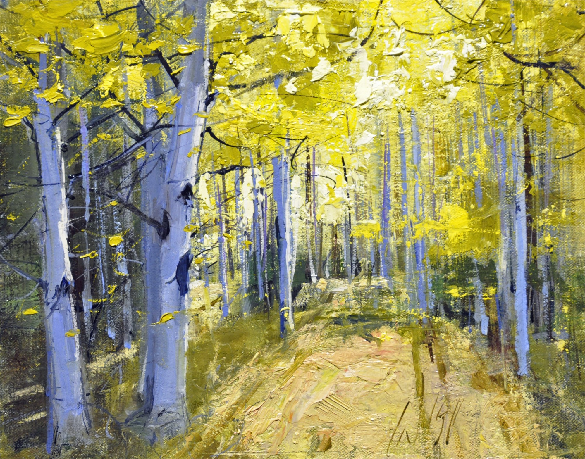 Yellow Woods II by Mike Wise