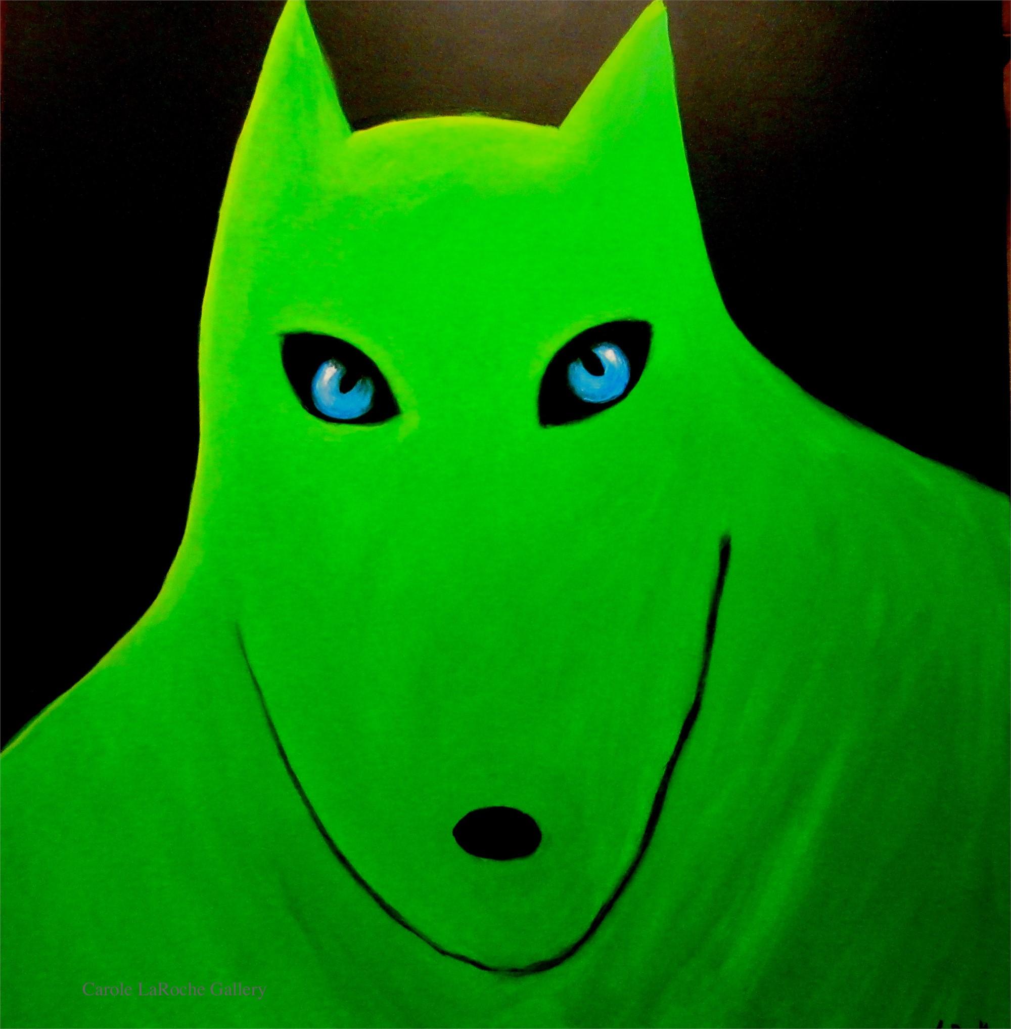 WILD GREEN WOLF by Carole LaRoche