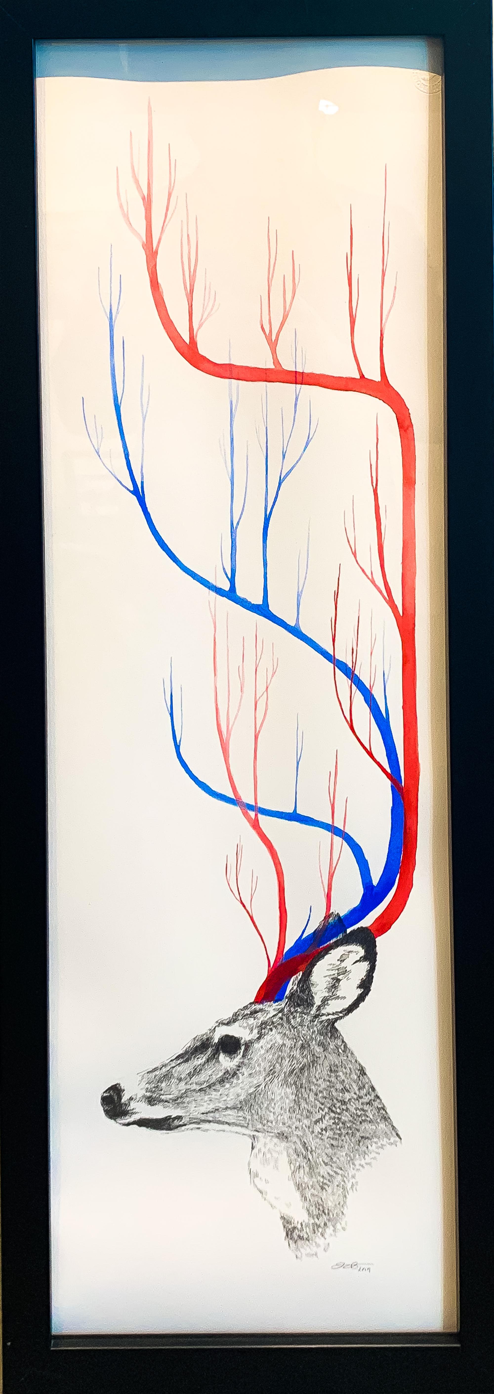 Veindeer No.8 by Jill Hakala