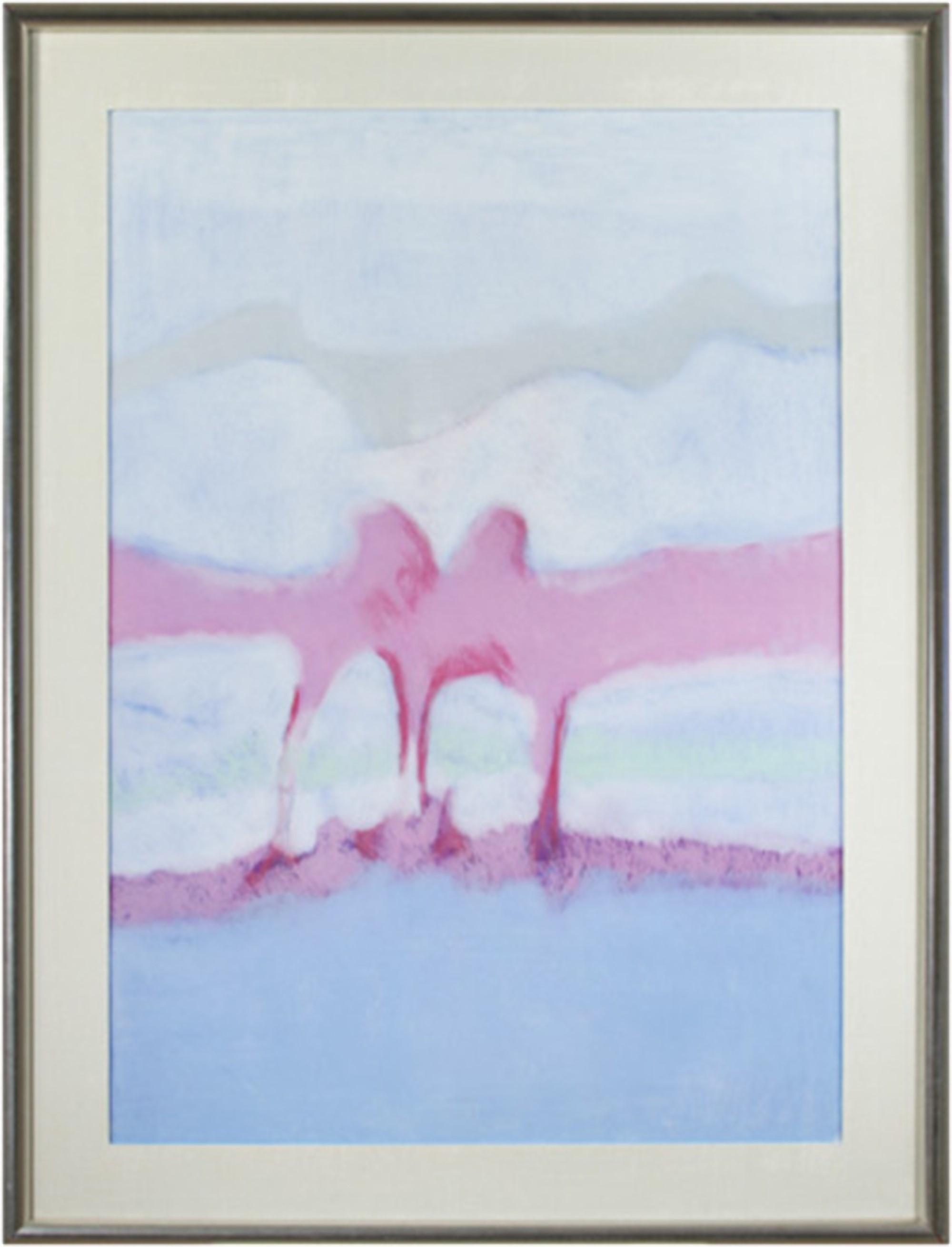 Landscape Blue, Violet, White by Sue Bartfield