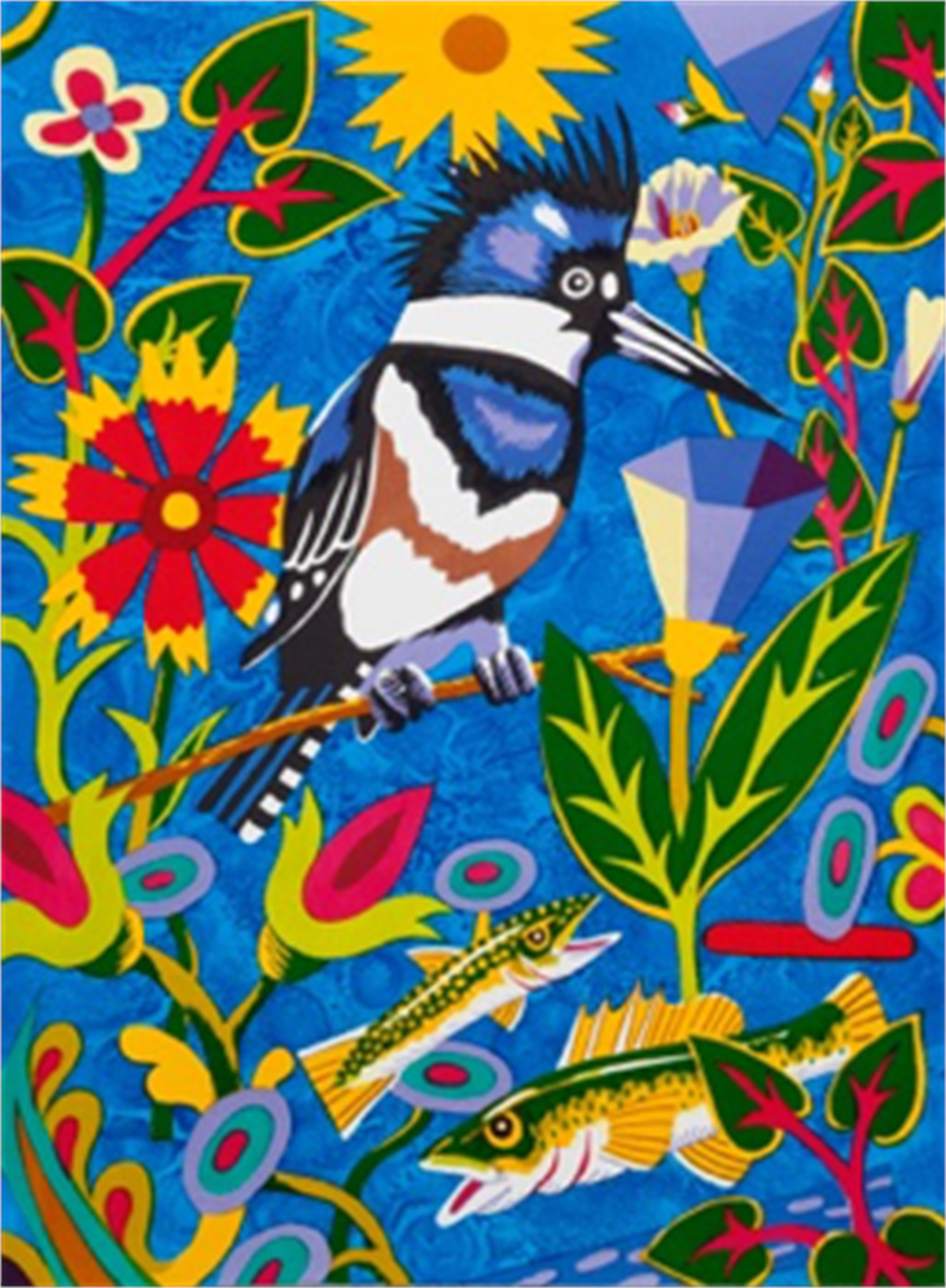 Kingfisher, Into Blue (Edition of 10) by Billy Hassell