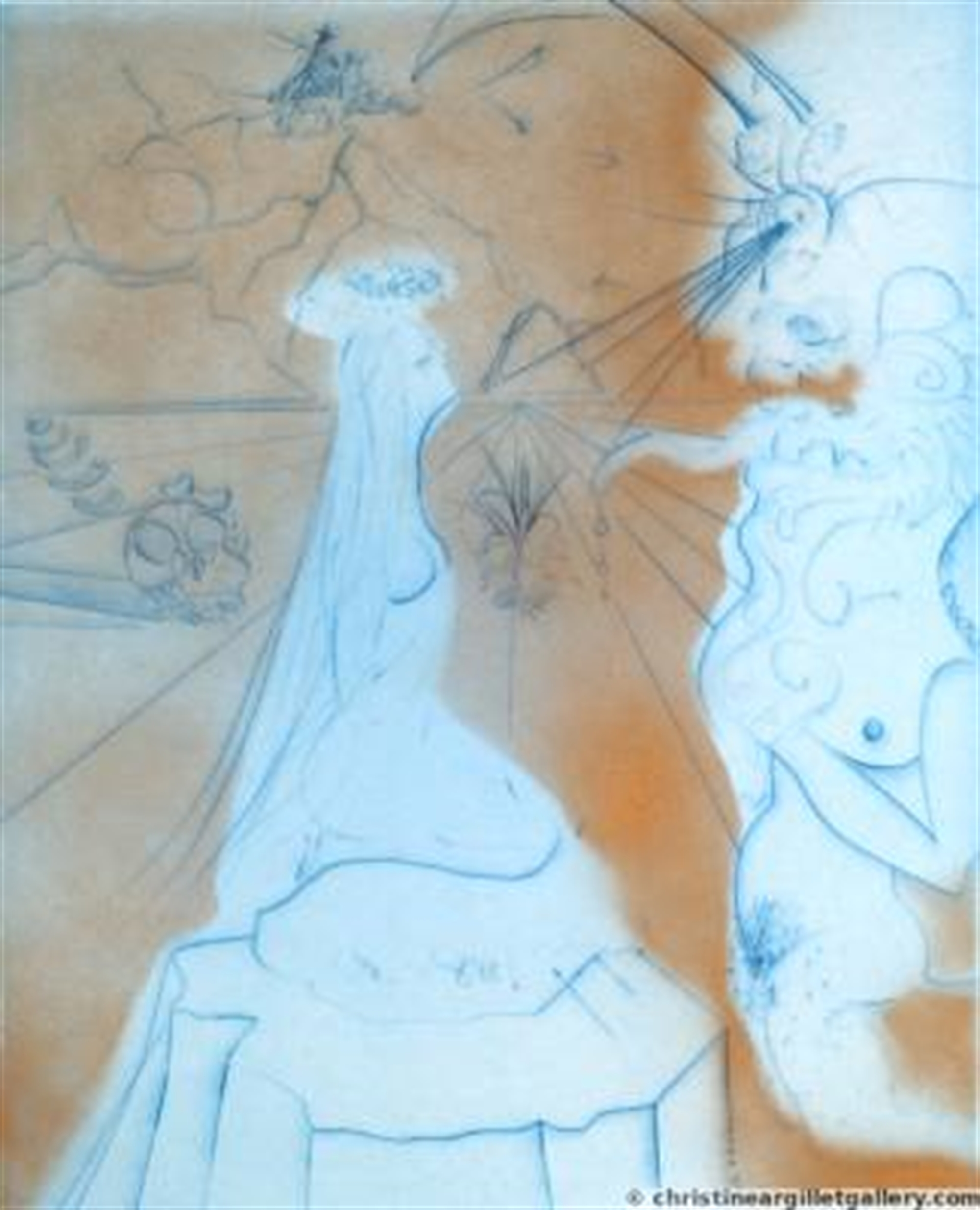 """The Hippies """"Woman with Cushion"""" by Salvador Dali"""