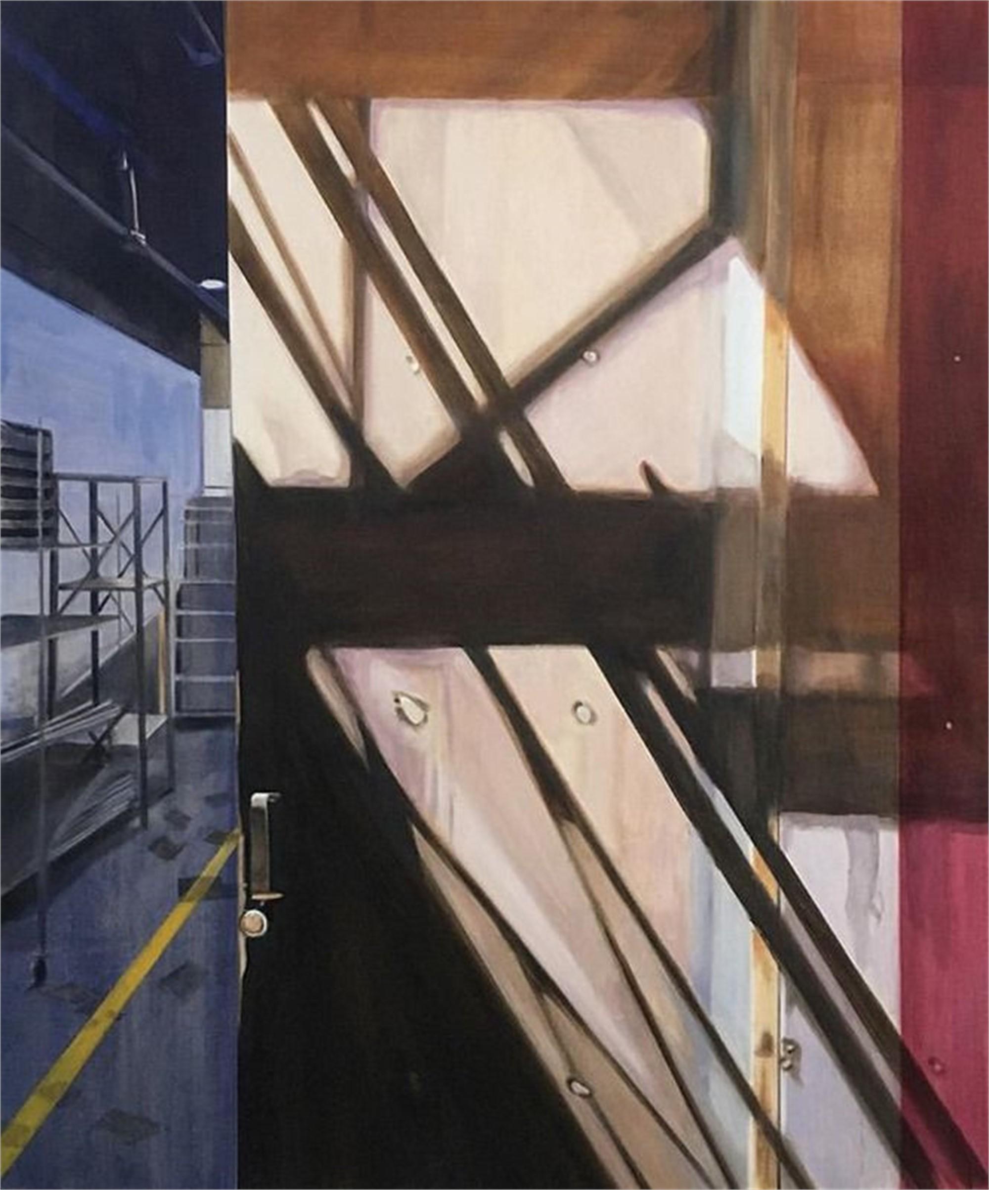 Shadows on a Steel Door by Allan Gorman