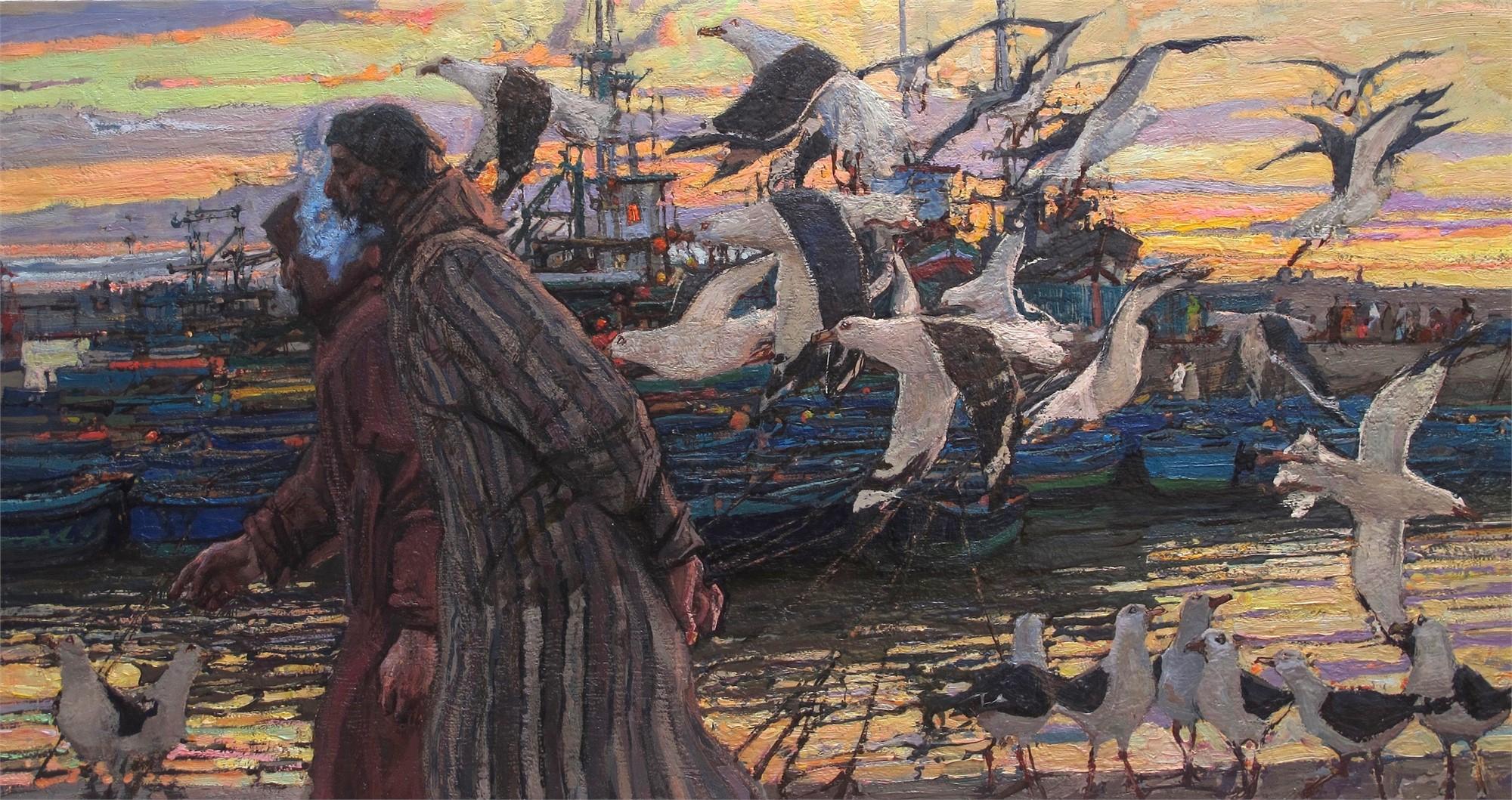 Harbor Conversation by Daud Akhriev