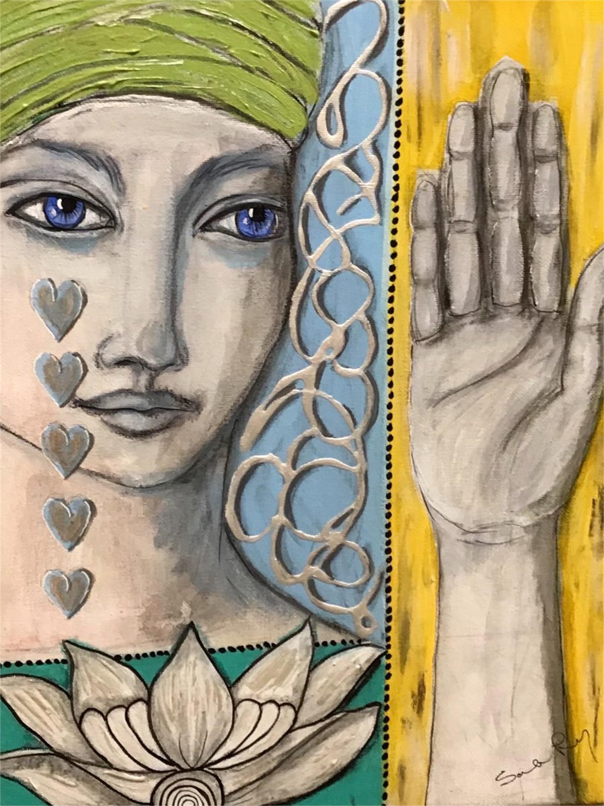 Lotus in Hand by Sarah Long