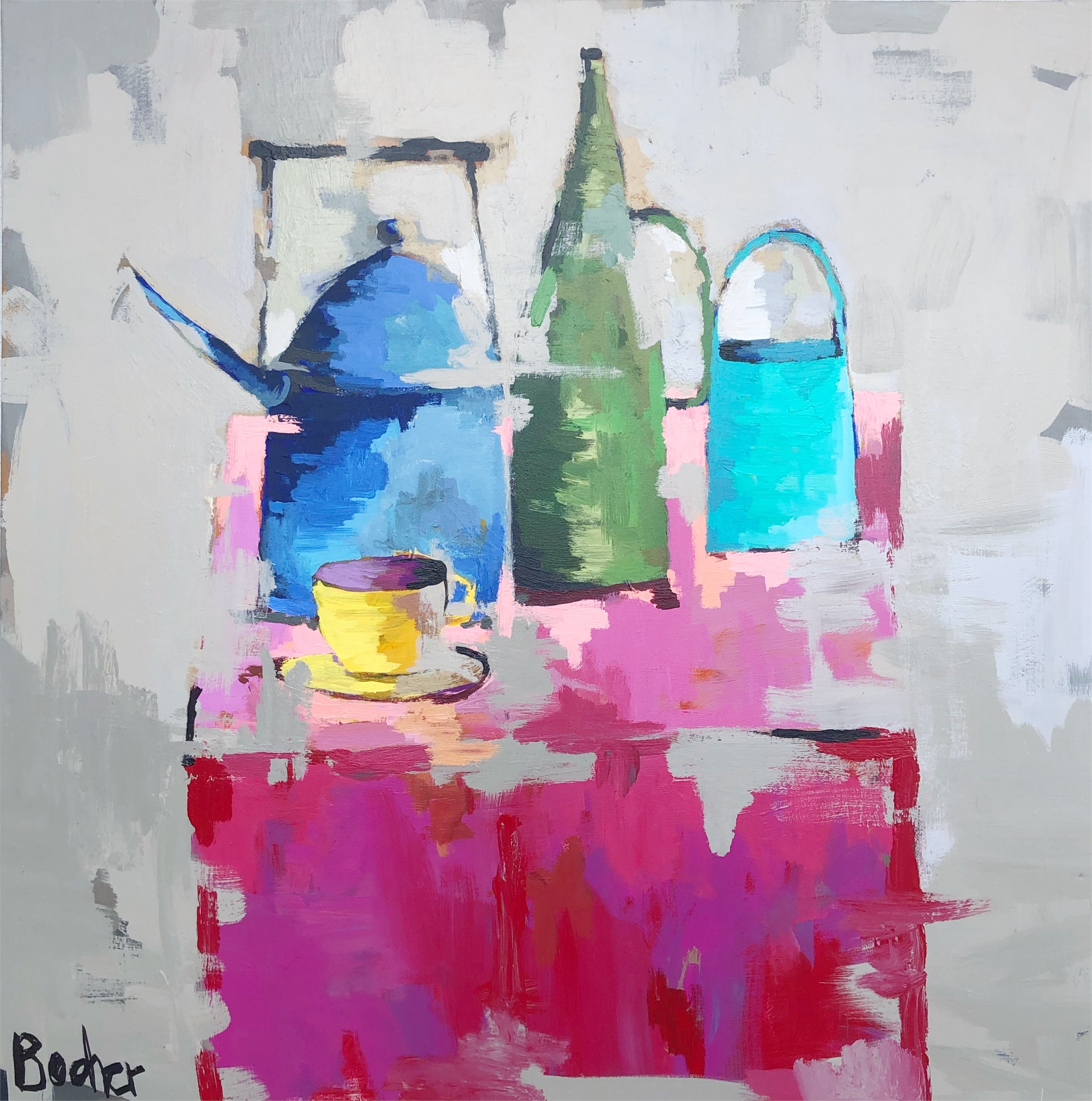 Tablescape in Pink by Gary Bodner