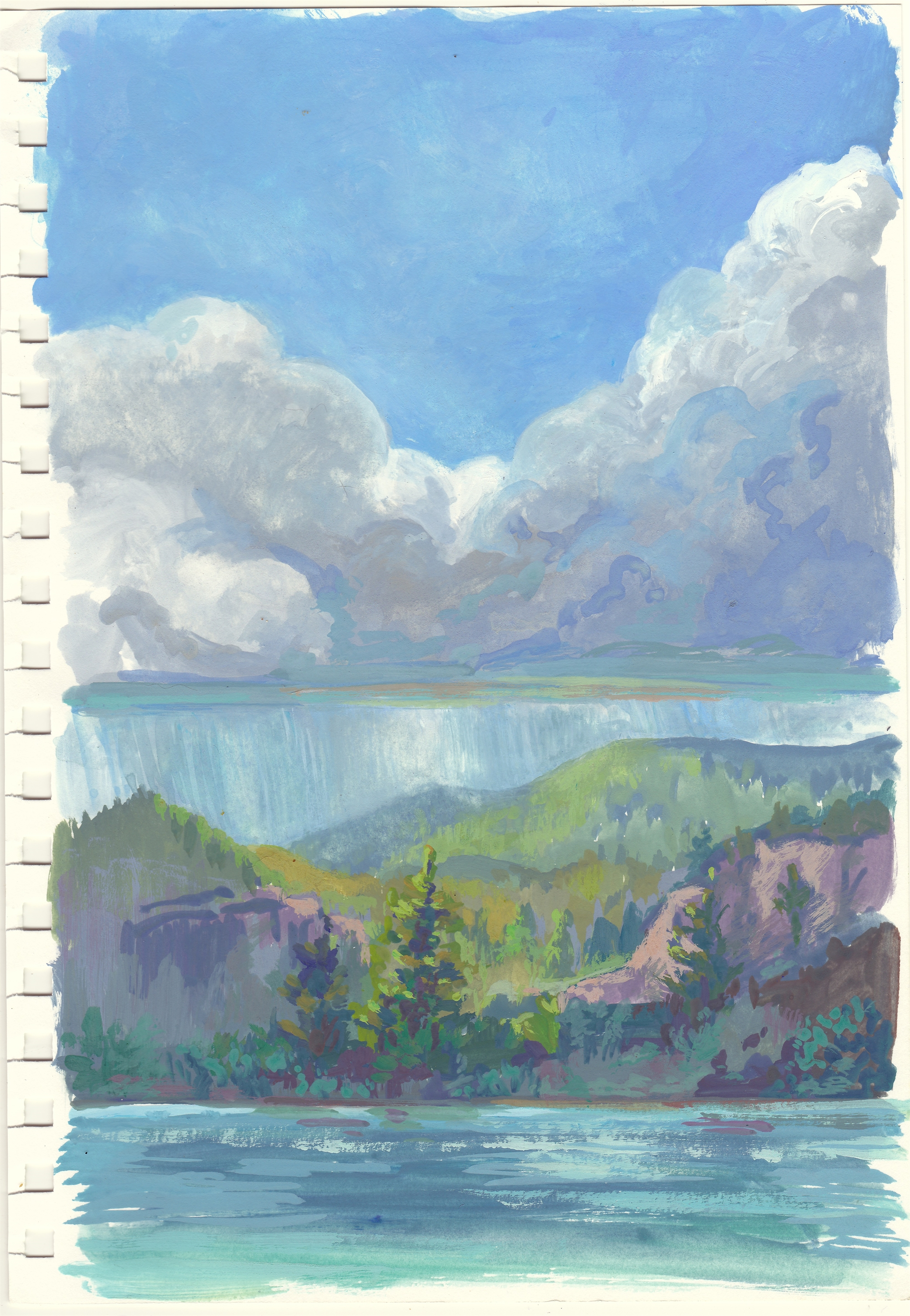 Study: Storm On The Lake by Charis Carmichael Braun