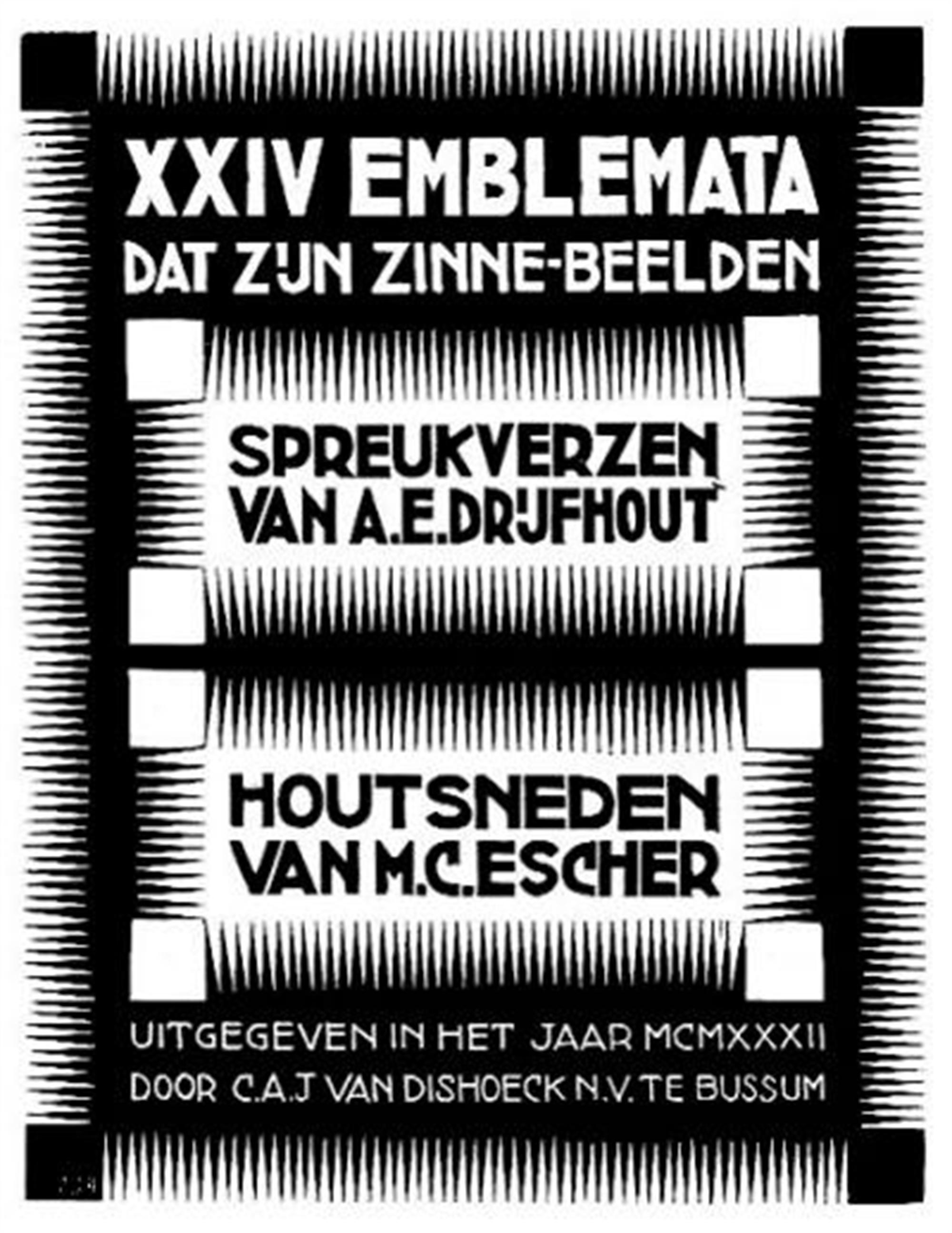 Emblemata (Cover) by M.C. Escher