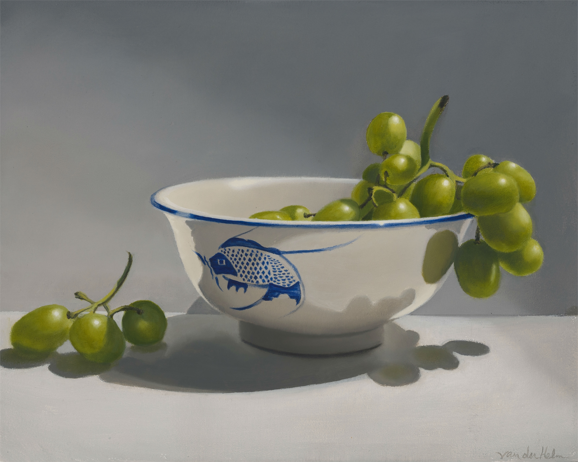 Bowl with Grapes by Sarah van der Helm
