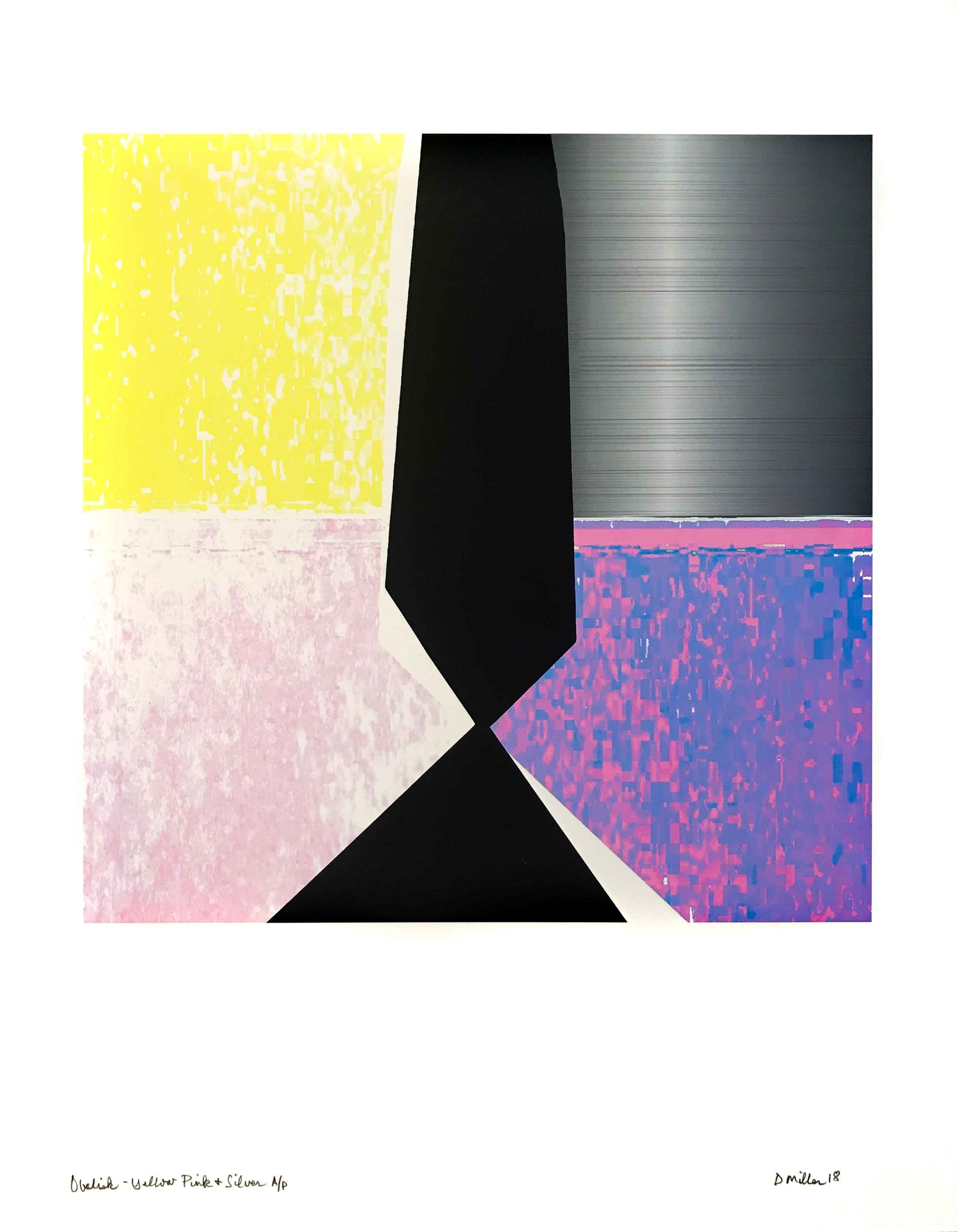 Obelisk- Yellow Pink & Silver by David Miller