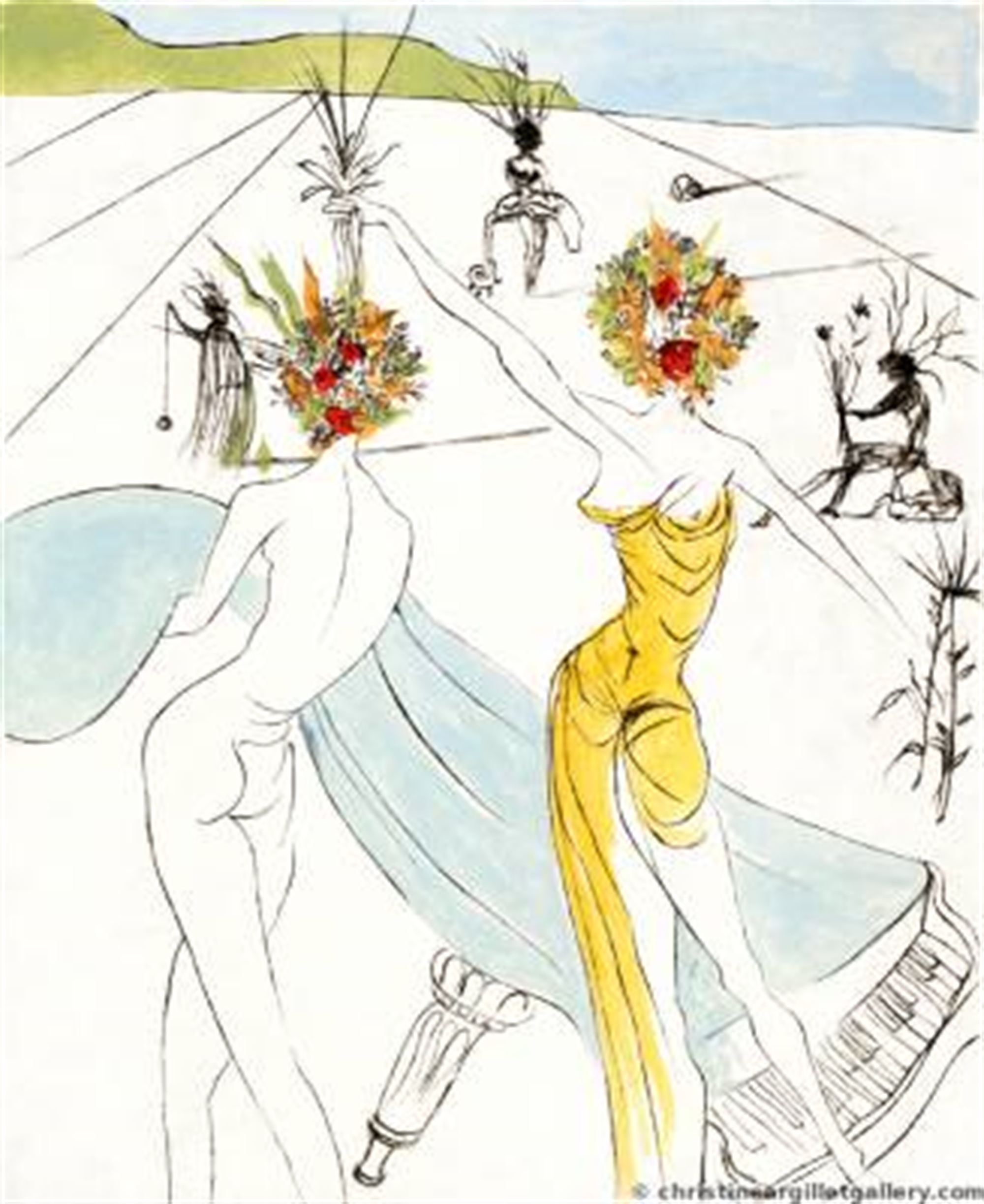 """The Hippies """"Flower Women by Salvador Dali"""