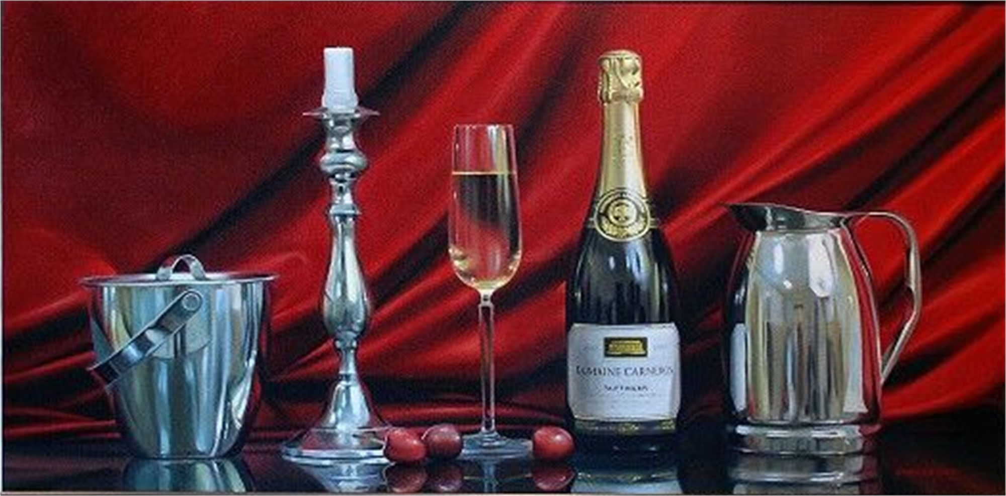 Champagne and Candle by Alexander Sheversky