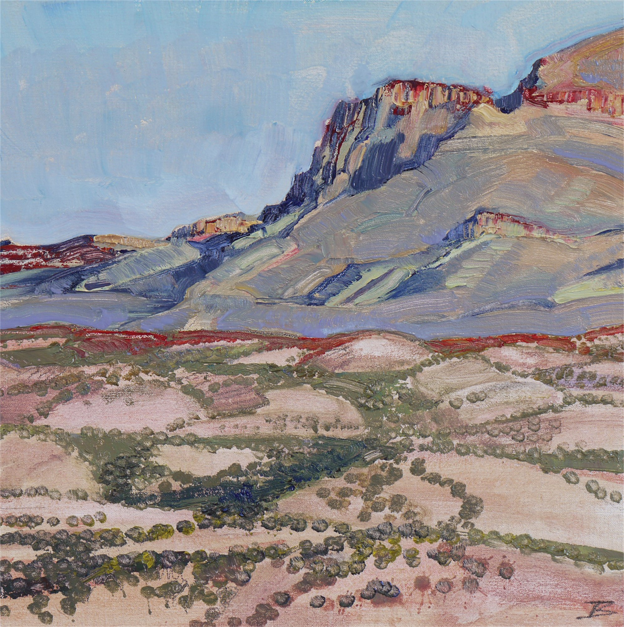 Study for Desert Mountain by Mary Baxter
