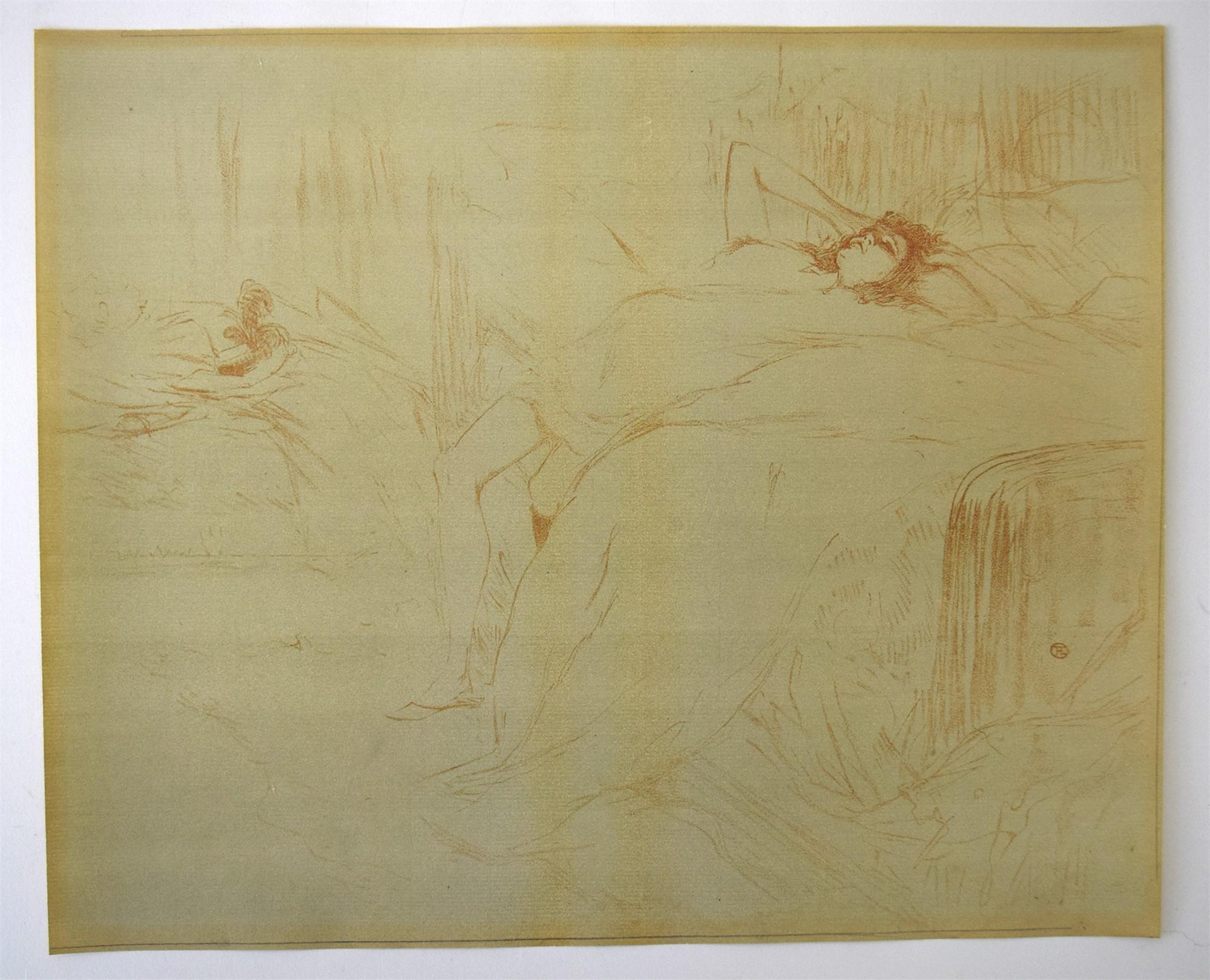 RECLINING WOMAN by Henri de Toulouse-Lautrec