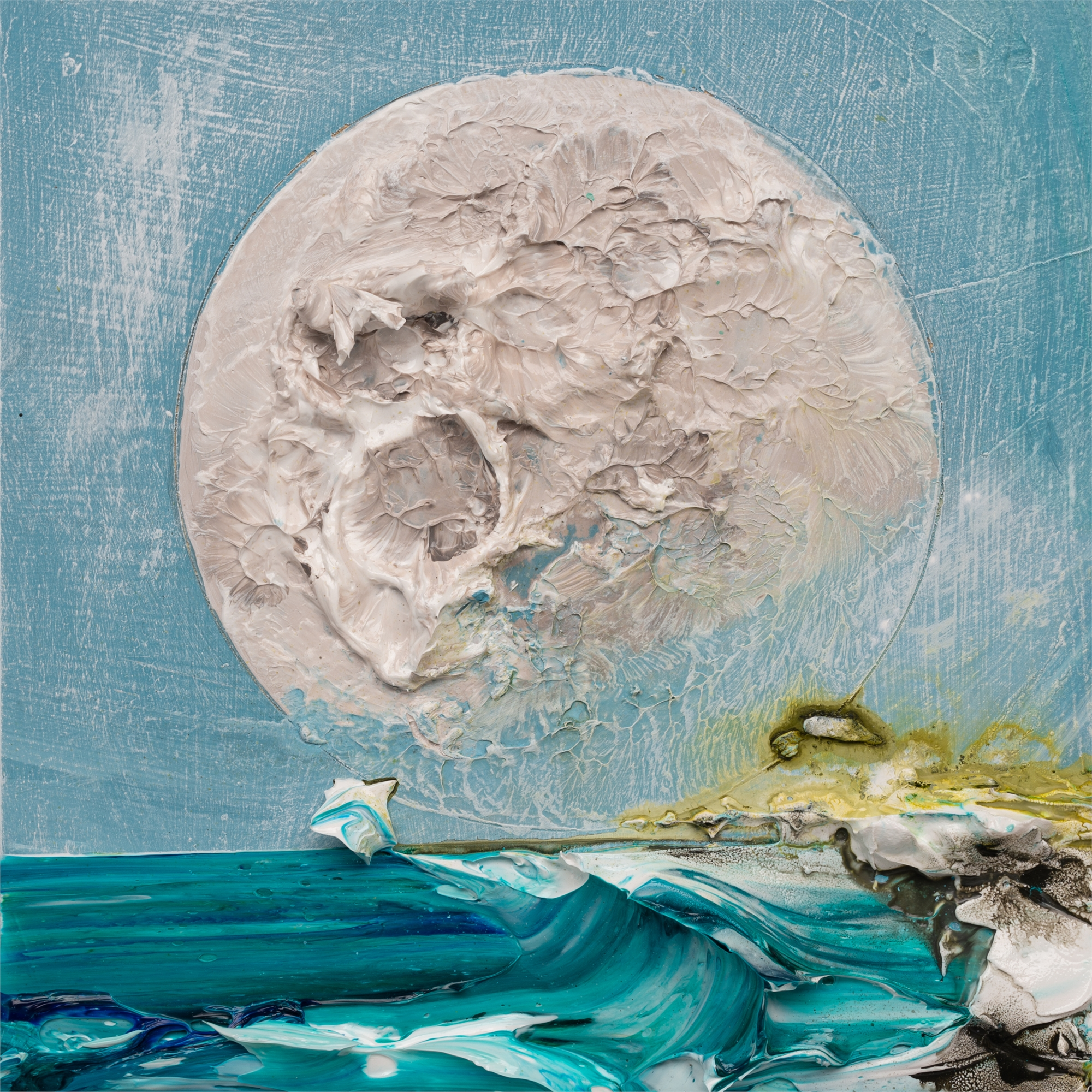 (SOLD) MOONSCAPE MS-12X12-2019-329 by JUSTIN GAFFREY