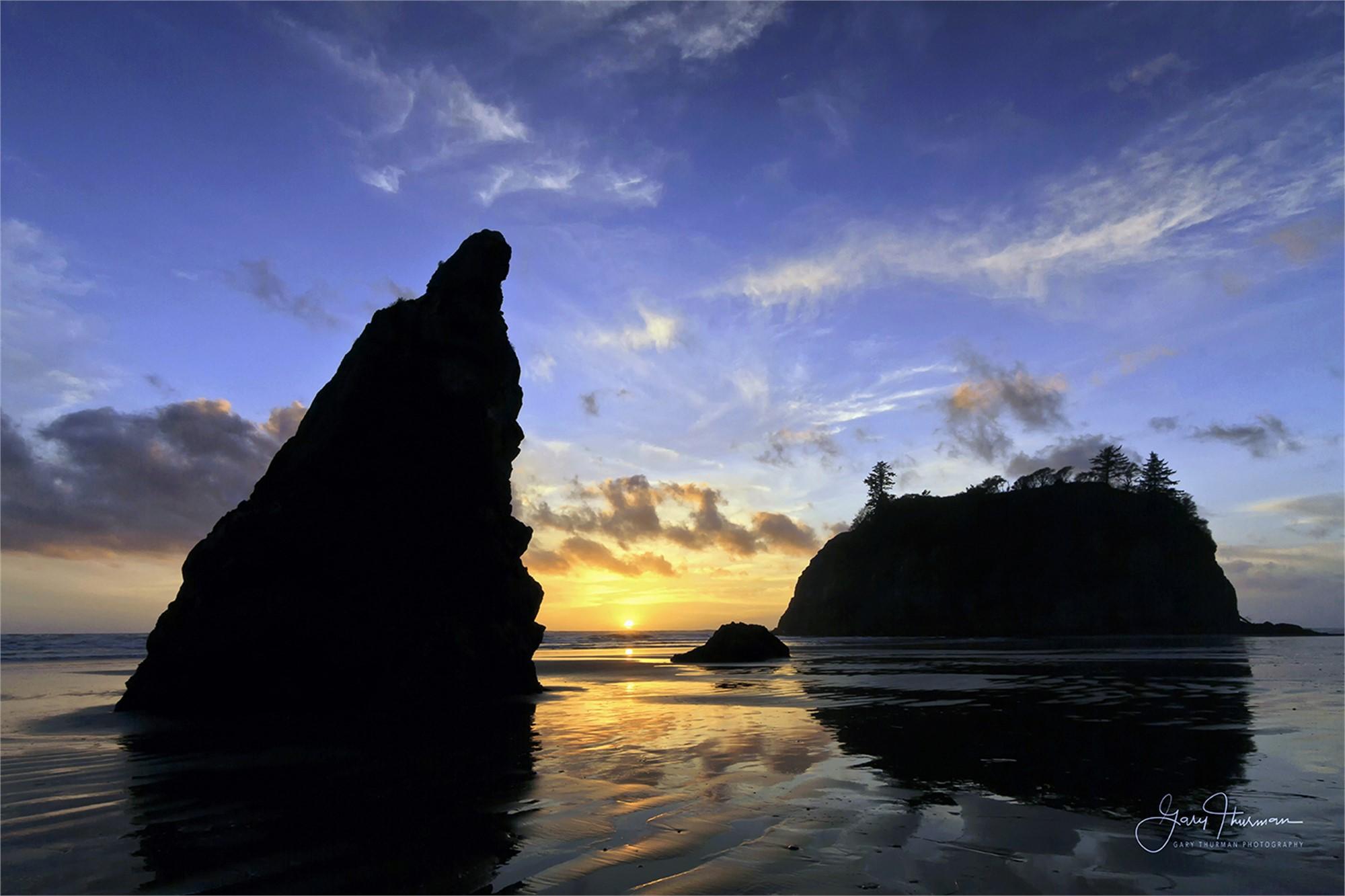 Ruby Beach Sunset (Aluminum Print) by Gary Thurman (McMinnville, OR)