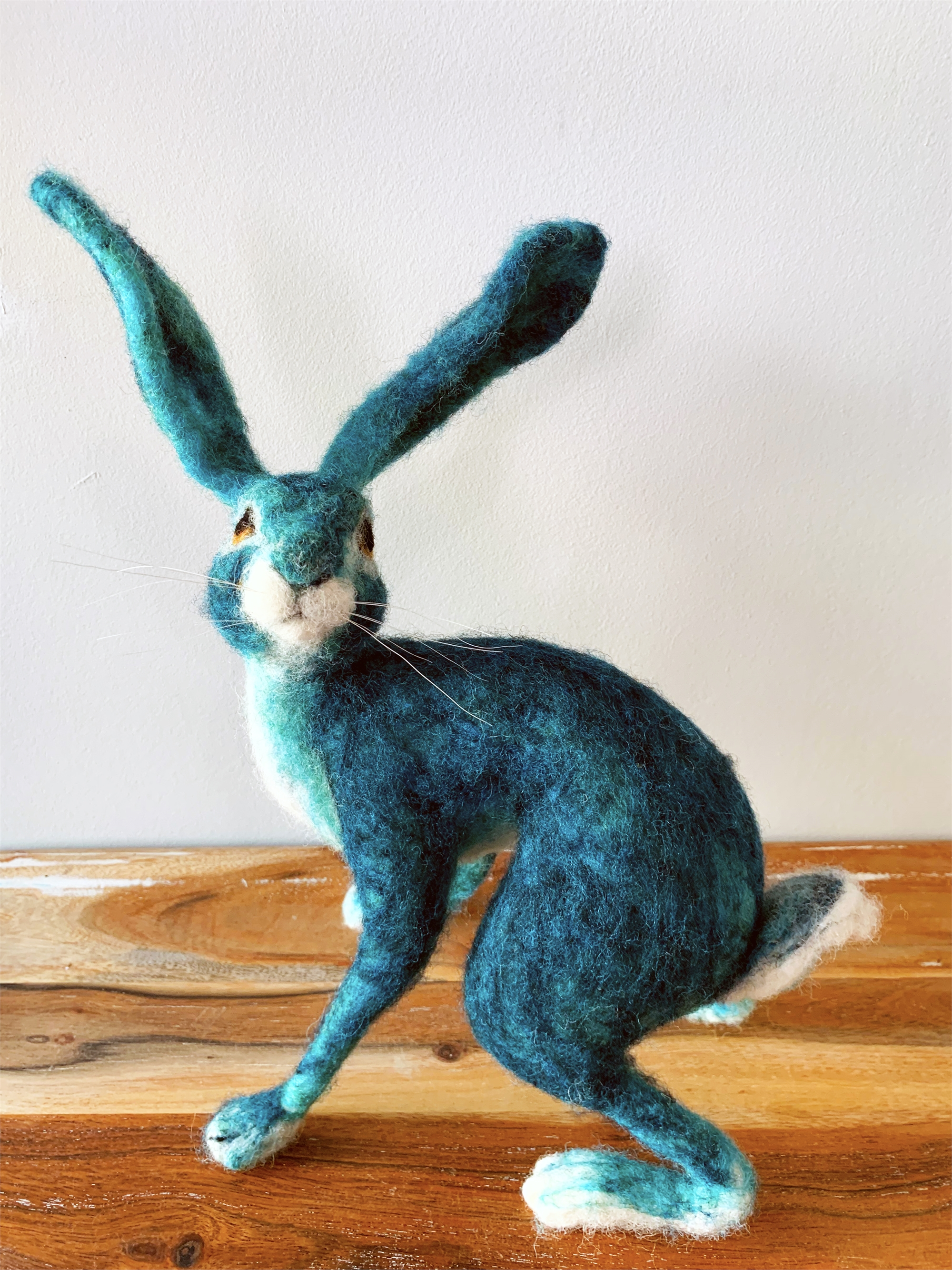 Turquoise Blue Hare by Di Haswell