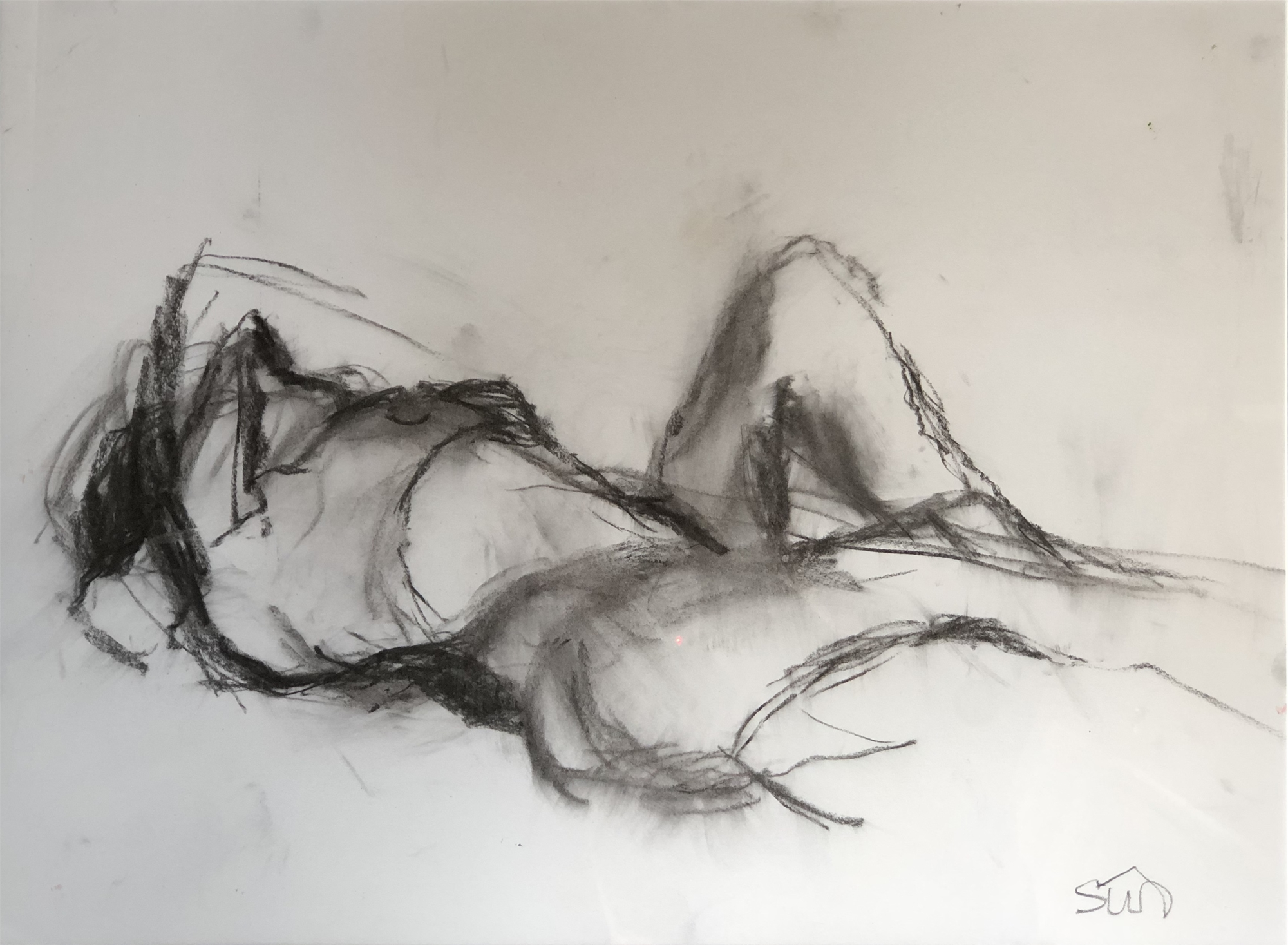 Reclining Nude One by Susan Altman