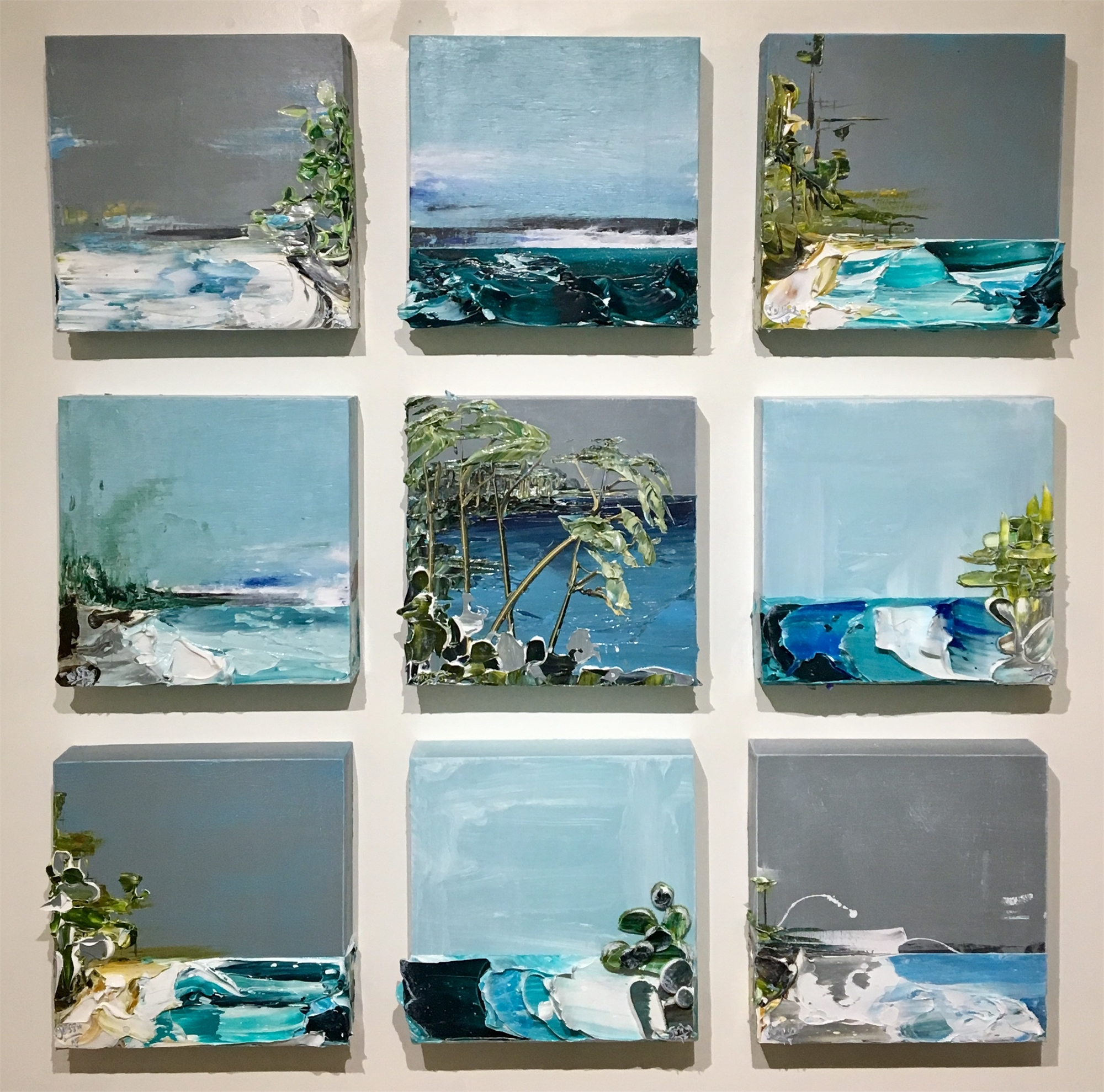COASTAL IMPRESSIONS GRID42X42-2018-ALL by Justin Gaffrey
