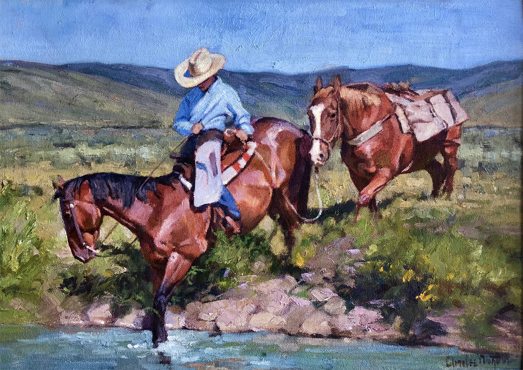 Crossing the Bear River by Charles Dayton