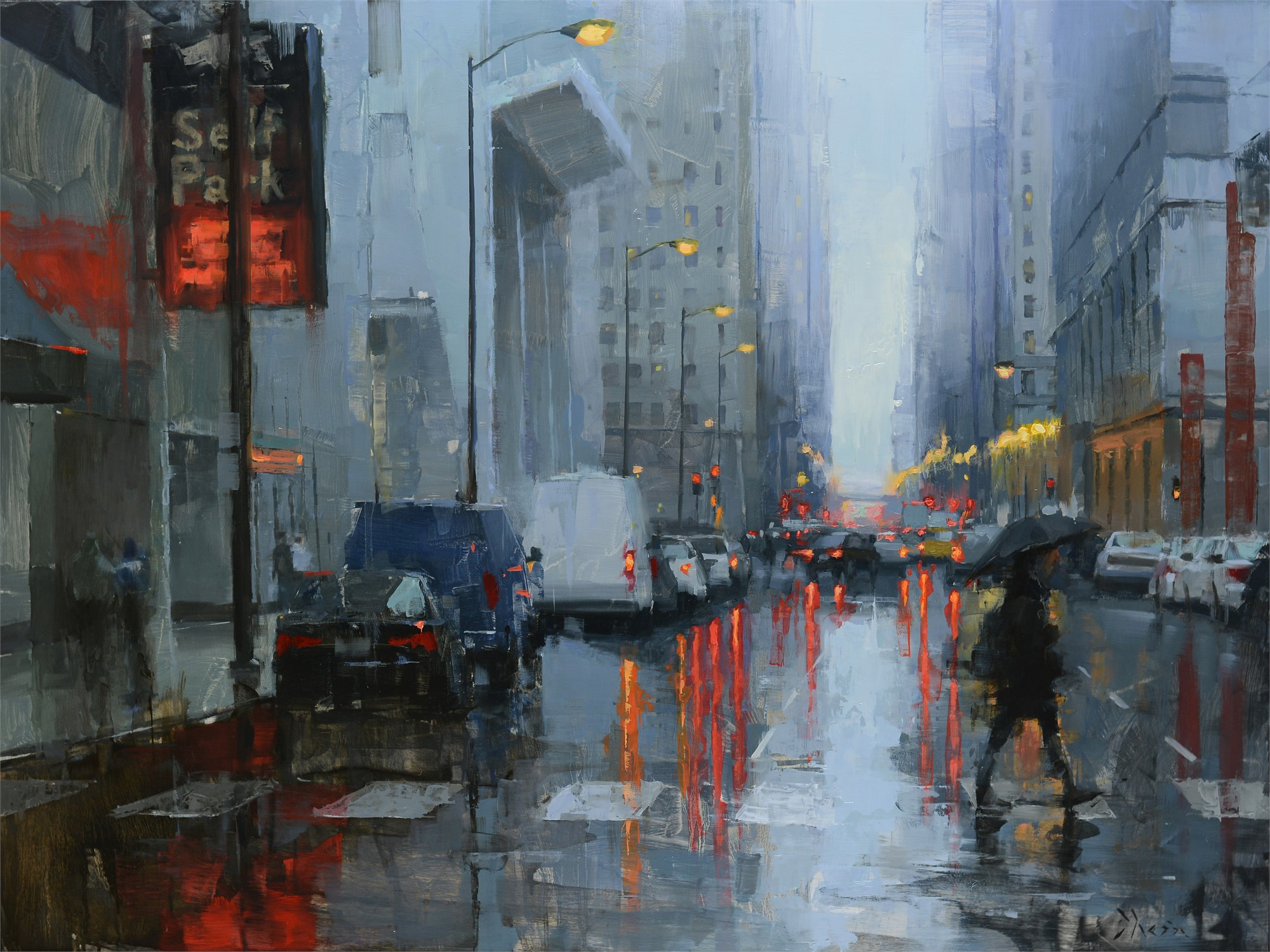 Chicago in the Rain III by Jacob Dhein