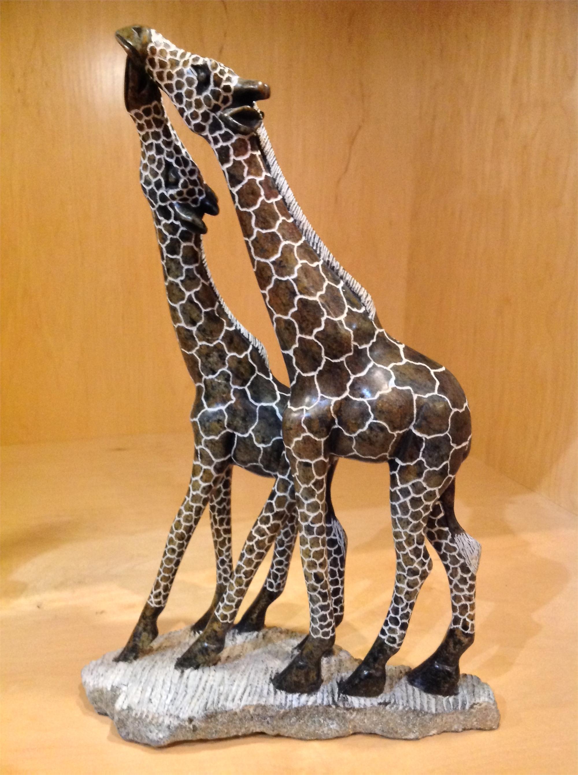 """Kissing Giraffes"" by Stone Of Shona Lloyd Ngwaru"