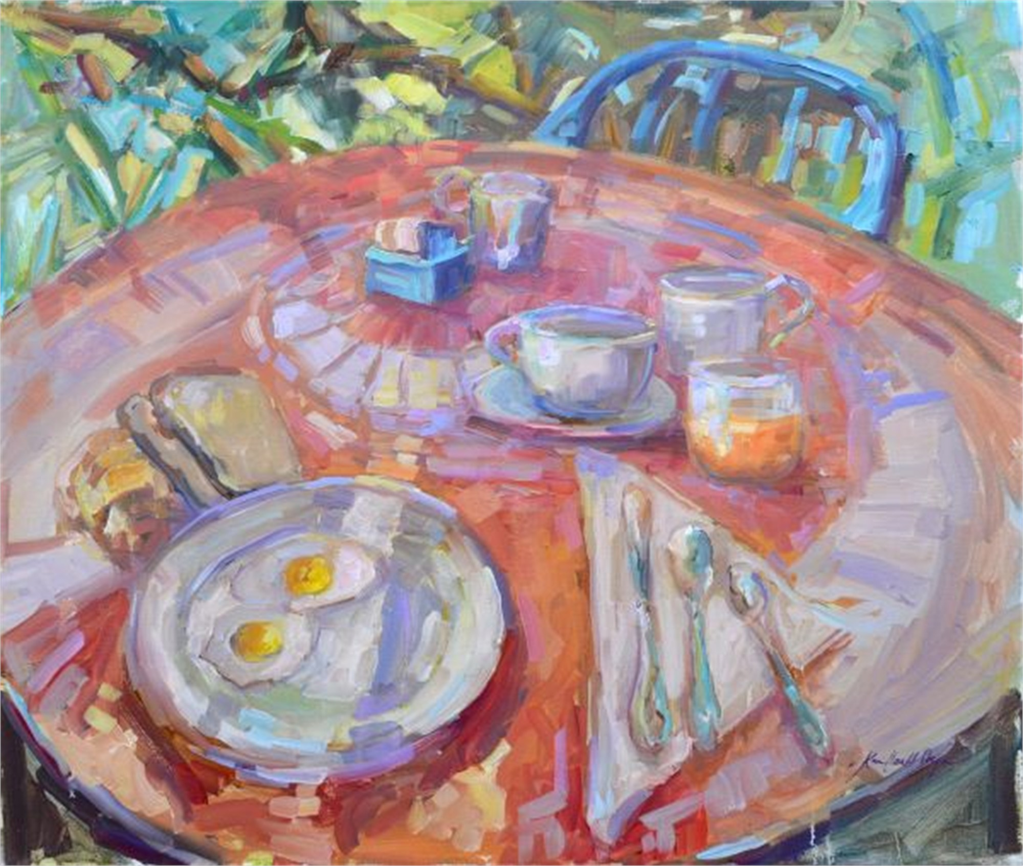 Breakfast at Lake Como by Karen Hewitt Hagan