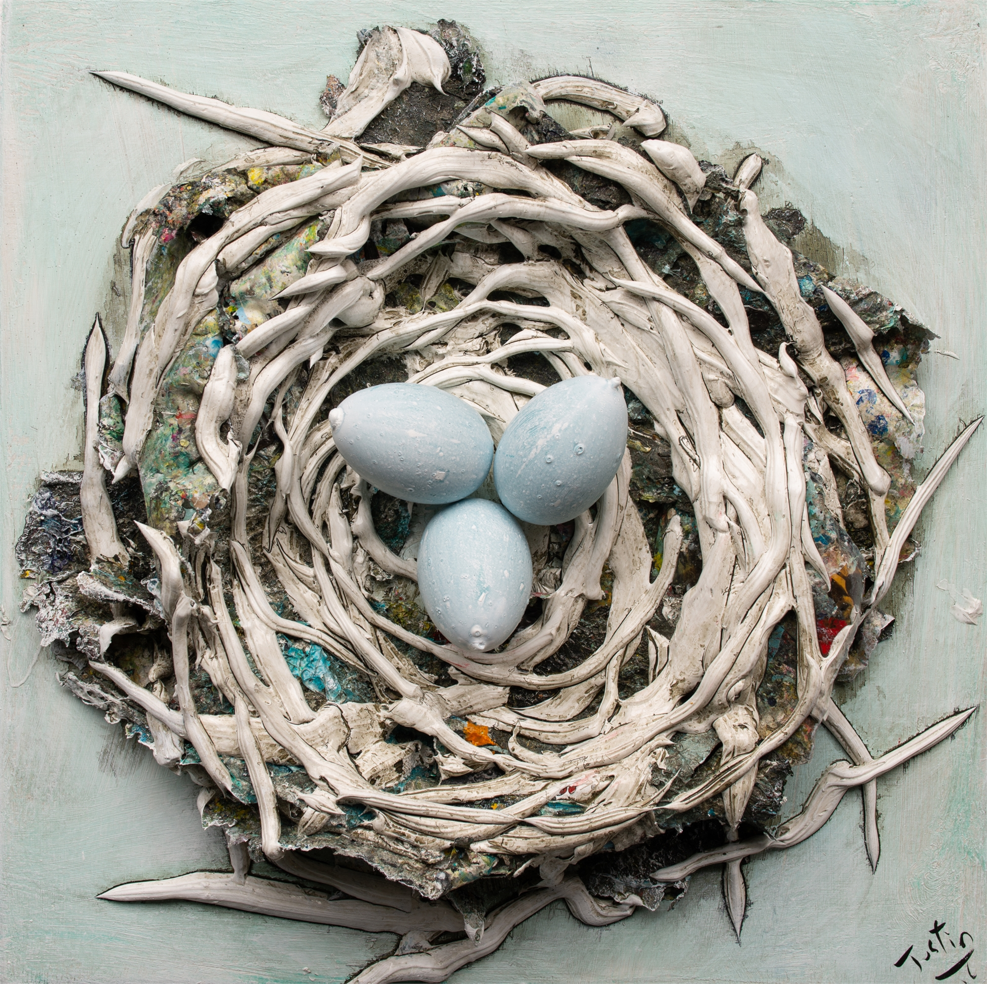 (SOLD) NEST NS-16x16-2019-263 by JUSTIN GAFFREY