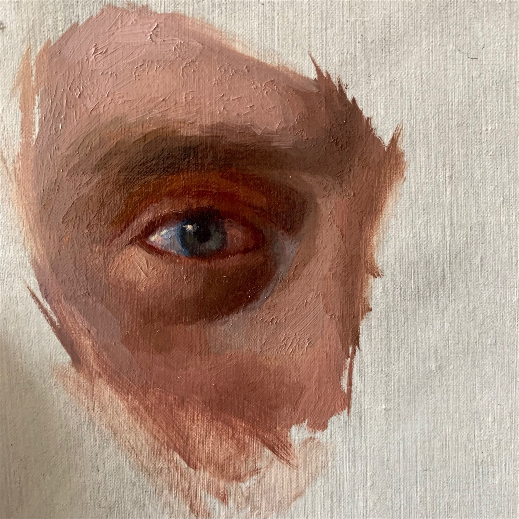 Self Portrait, Eye by Derek Harrison