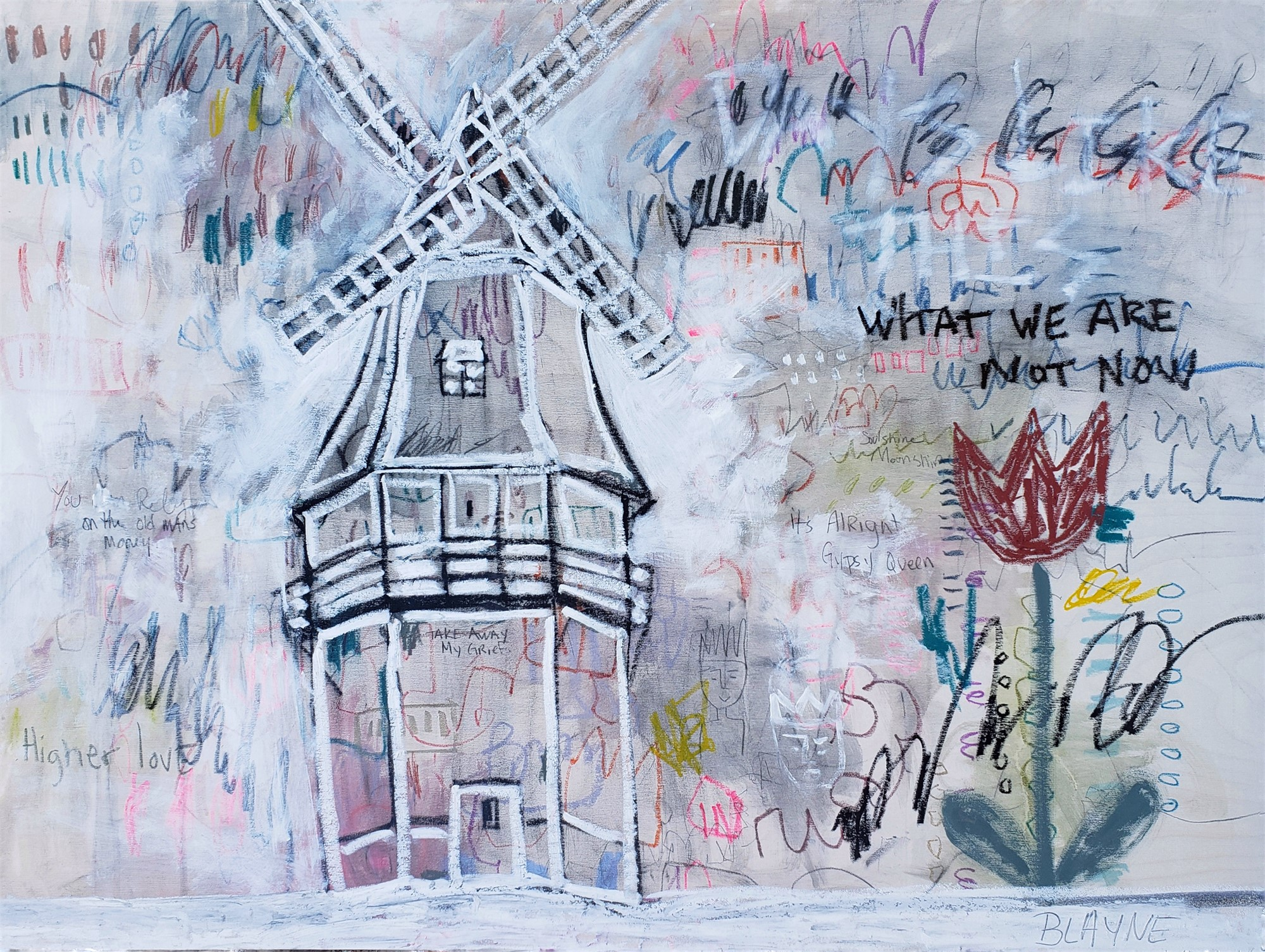 What We Are Not Now - 13x19 Signed Print (Including Shipping) by Blayne Macauley