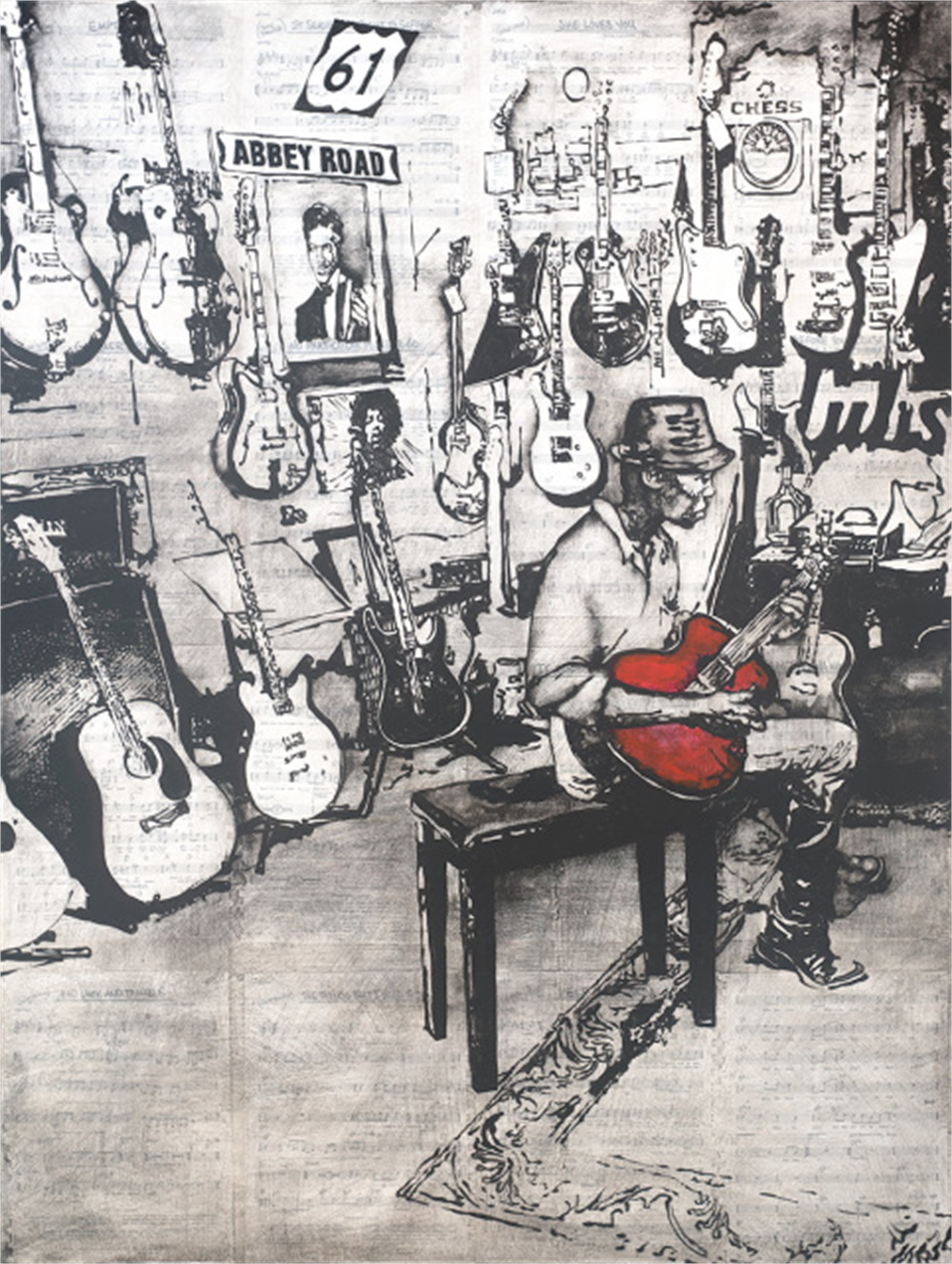 The Guitar Shop by Will Armstrong