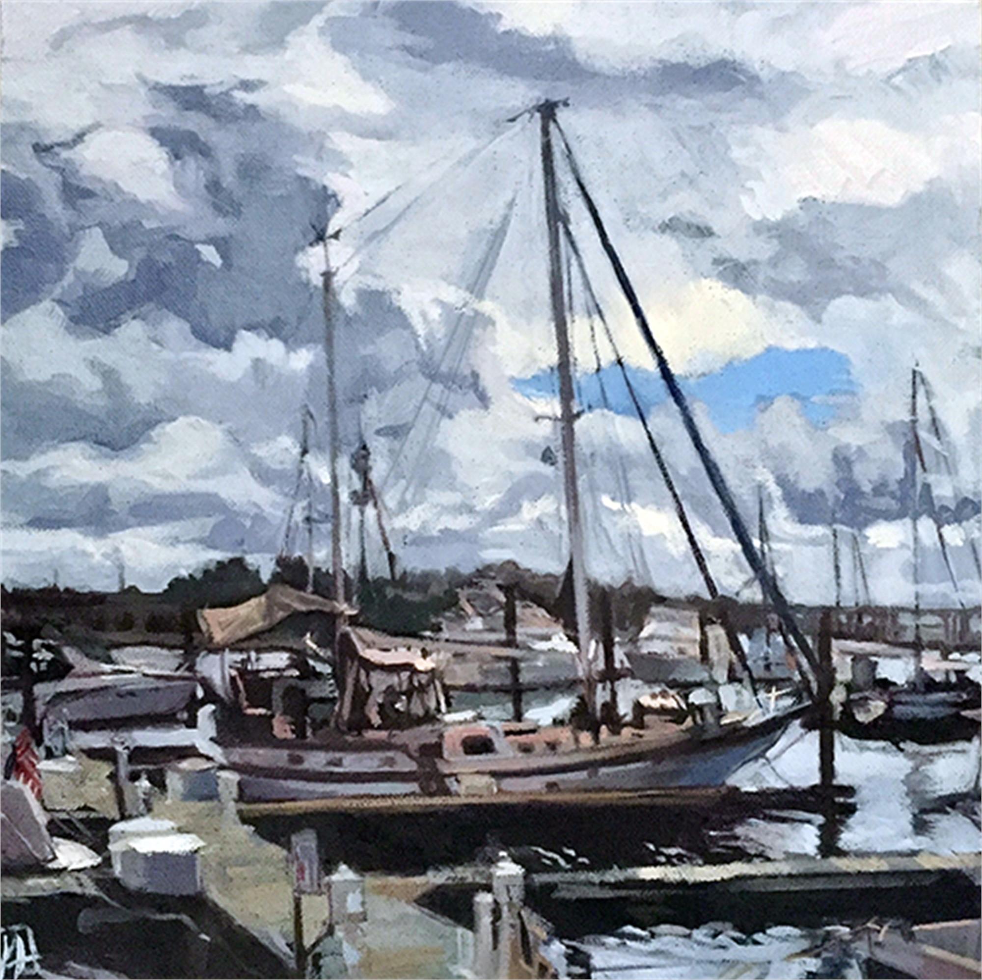 Sailboats in Marina by Julie Larick