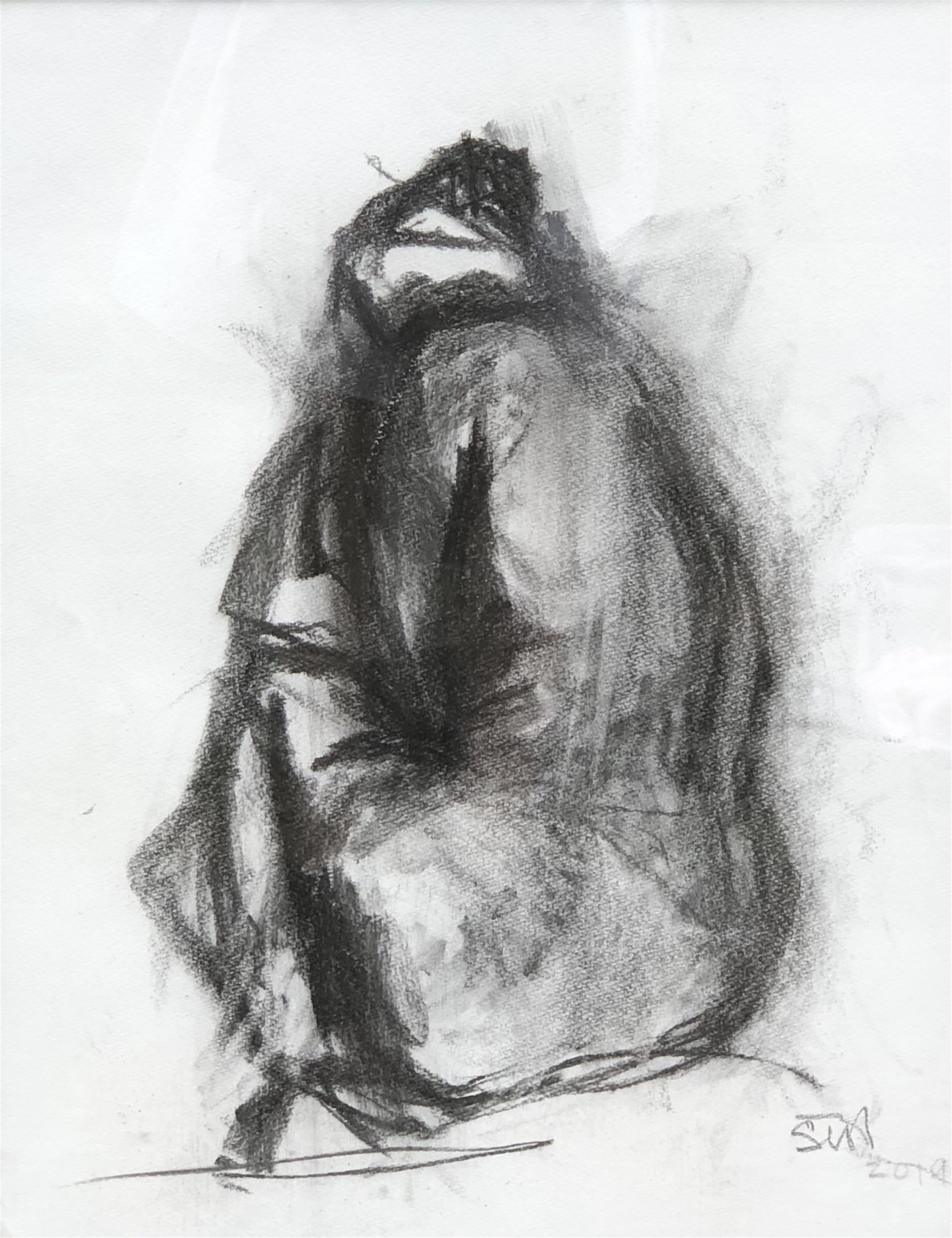 Gestural V by Susan Altman
