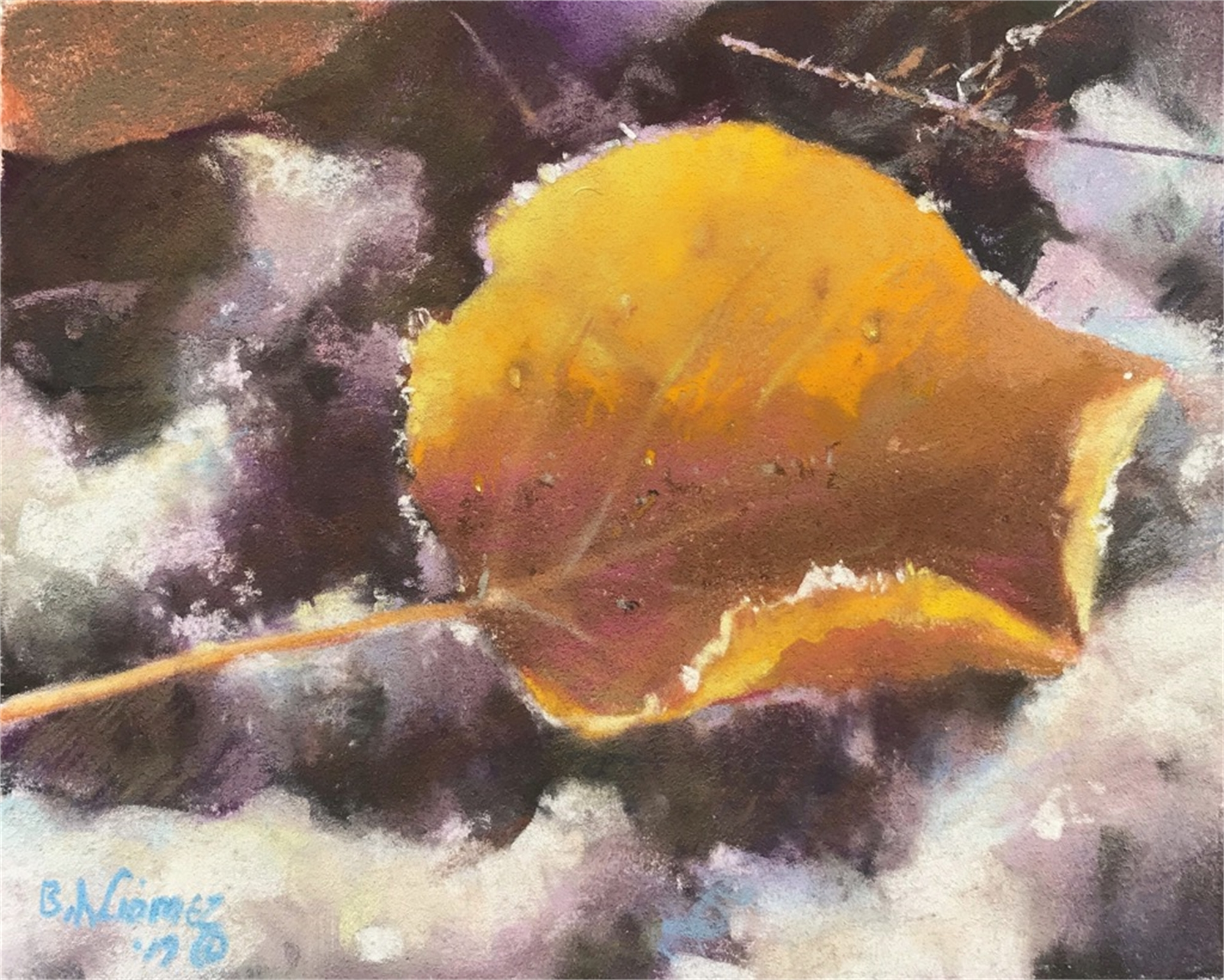 Aspen Leave with Chrystals by Bruce A Gómez