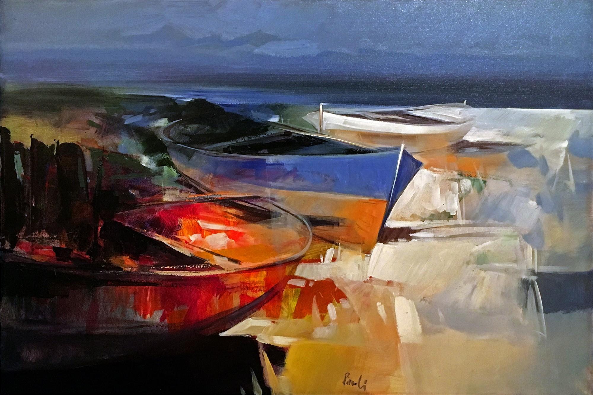 Boats in Stintino, Sardinia by PICCOLI