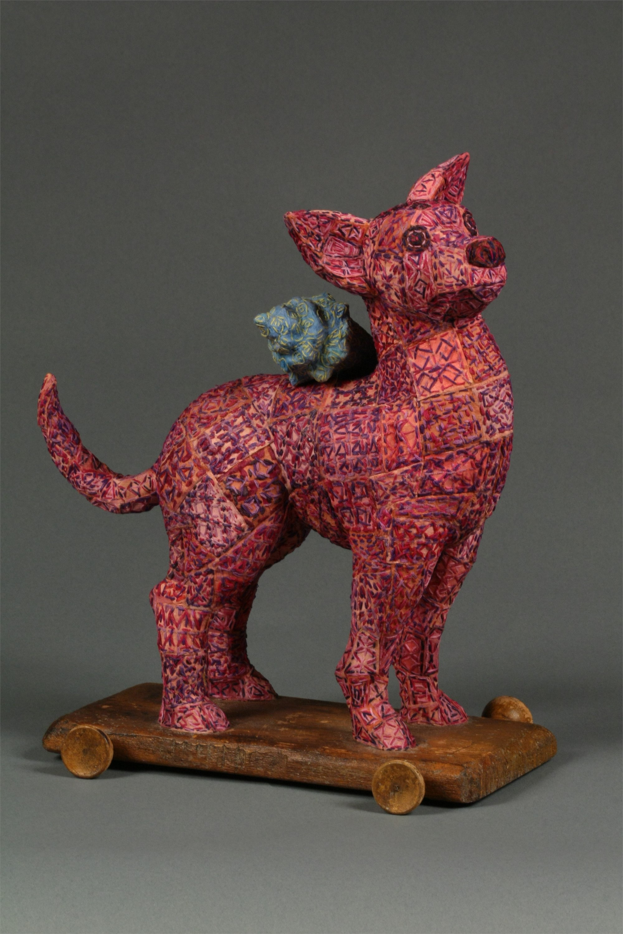 Pink Dog Pull Toy by Martha Shade
