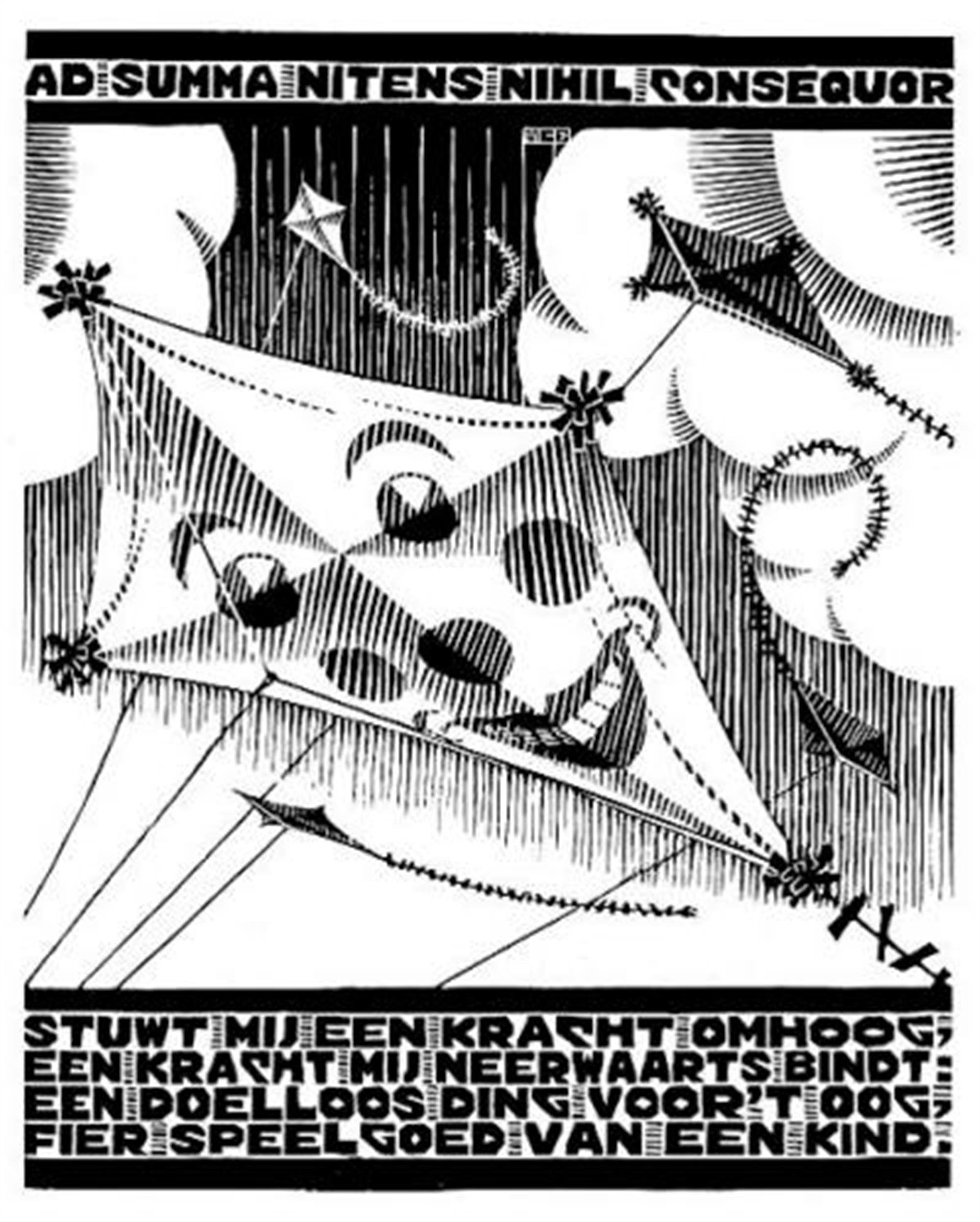 Emblemata - Kite by M.C. Escher