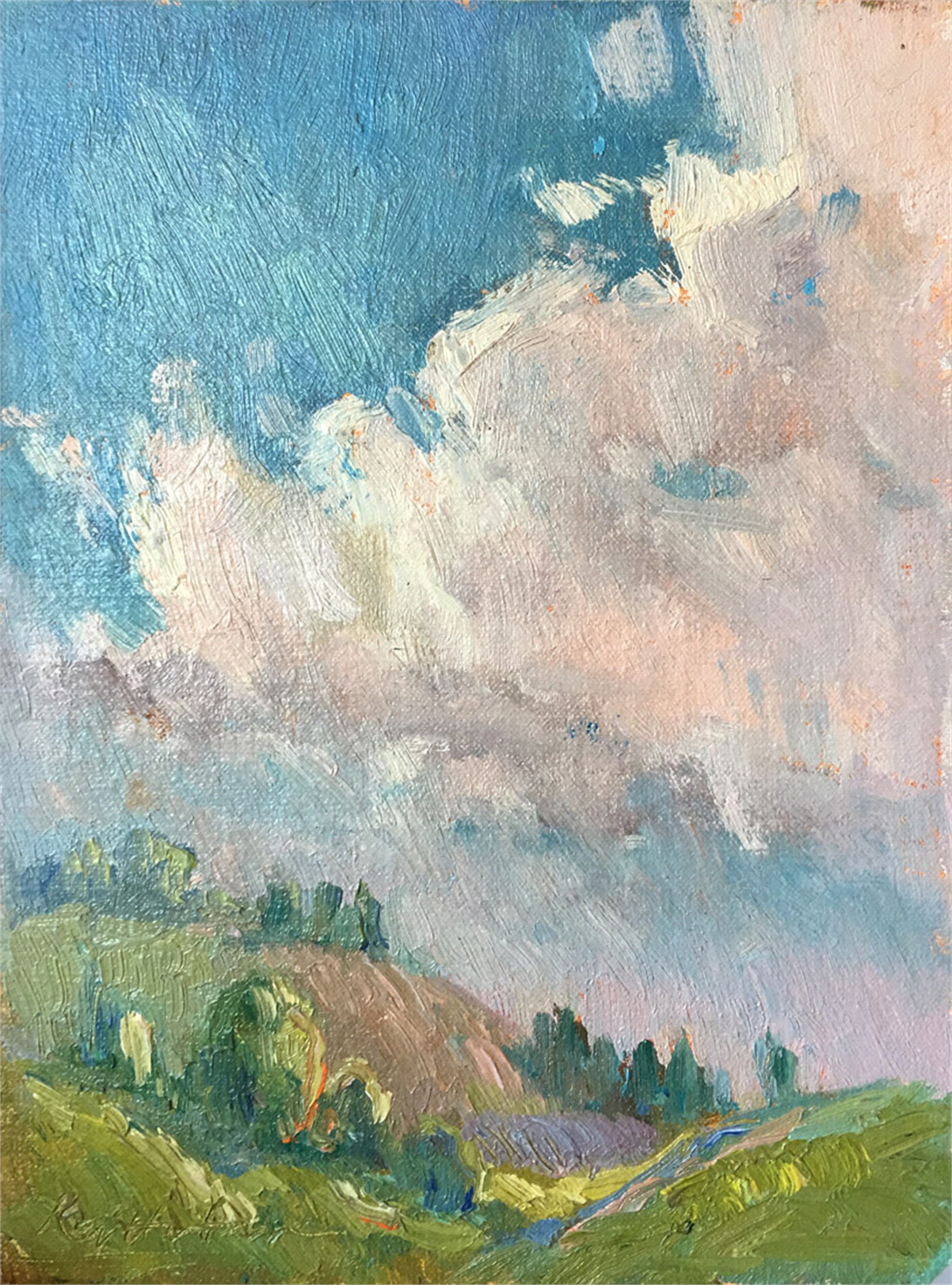 Clouds Over Tuscany by Karen Hewitt Hagan