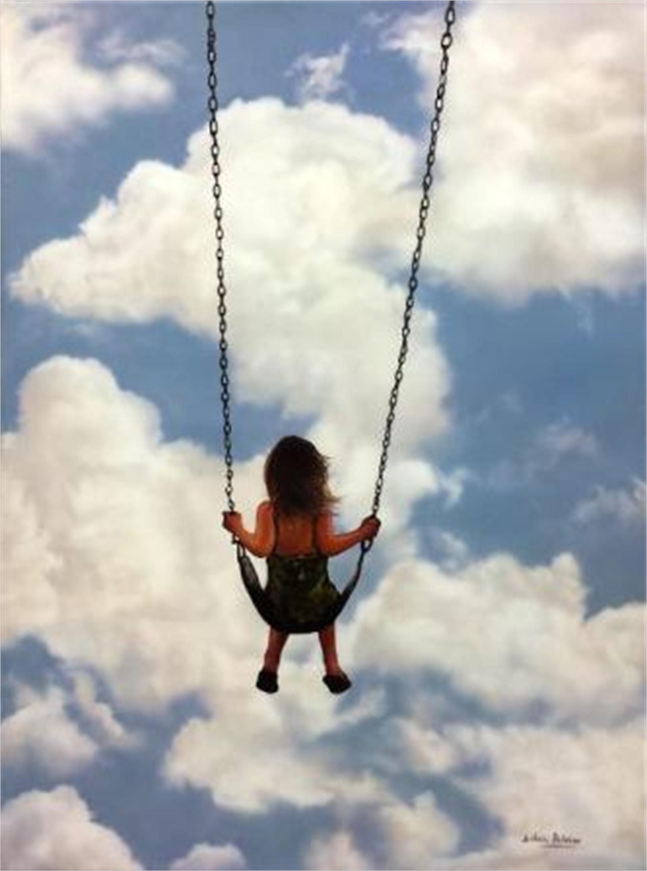 Girl on a Swing II by Silvia Belviso