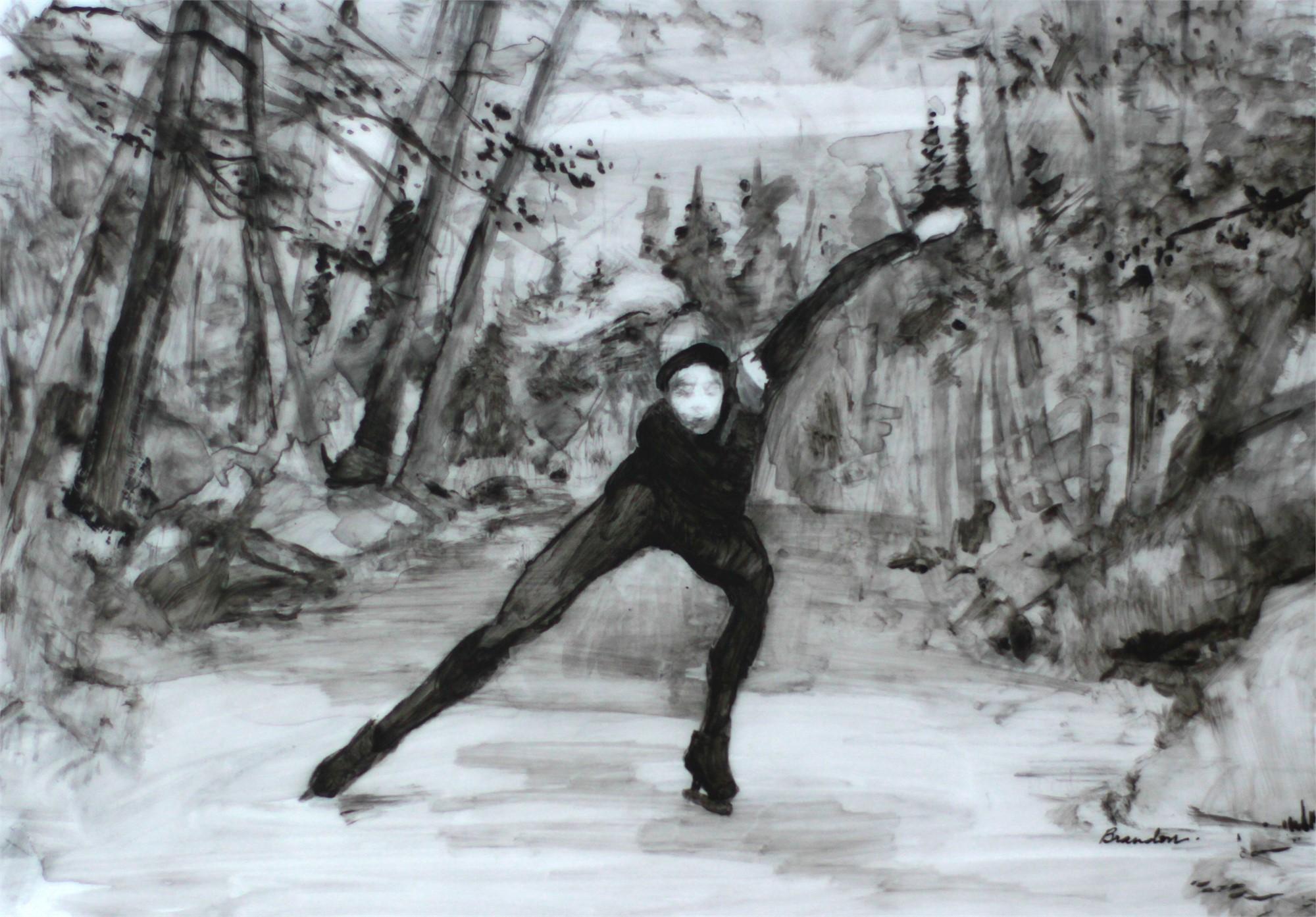 Night Speed Skating by Linda Tracey Brandon