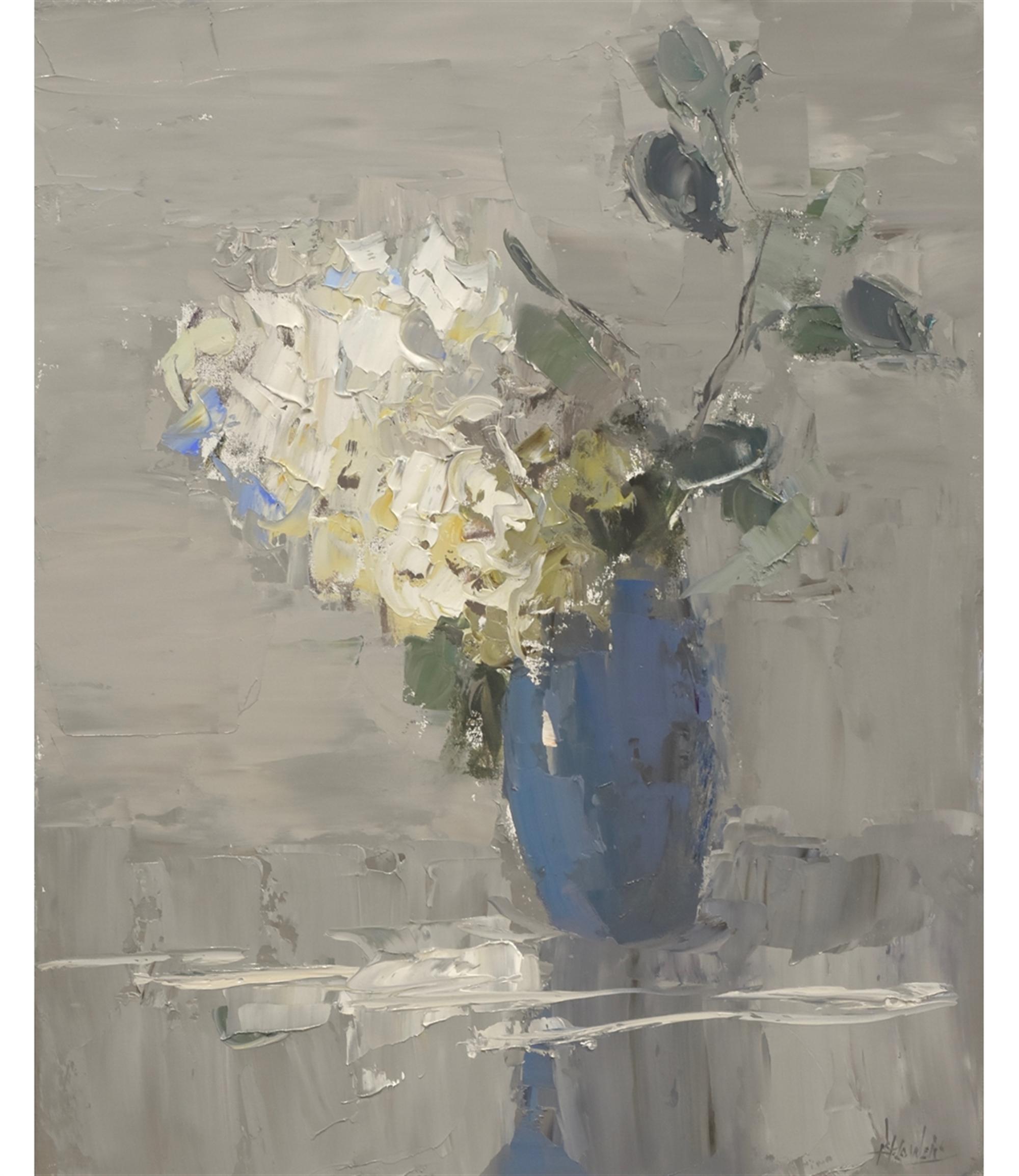 One in Blue Vase by Barbara Flowers