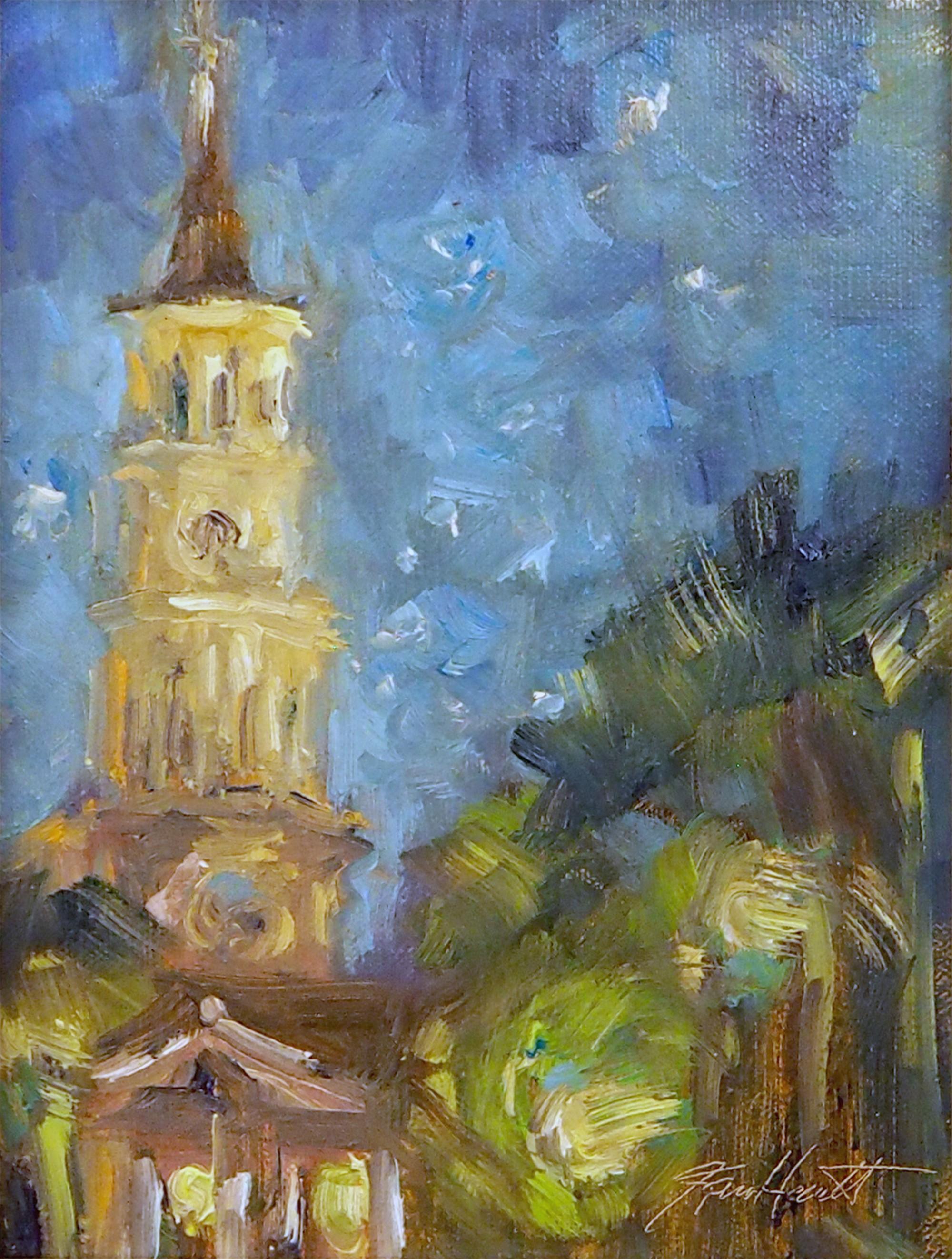 Blue Night on St Philips by Karen Hewitt Hagan