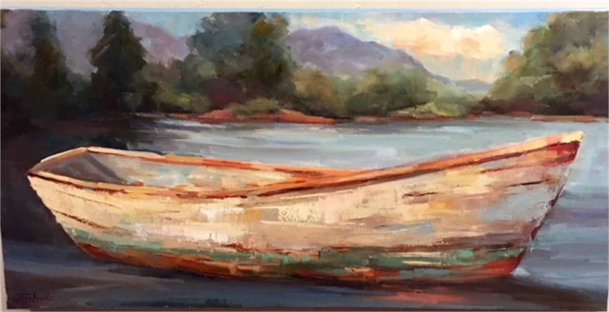 Row Boat in the Cove by Jan Eubanks