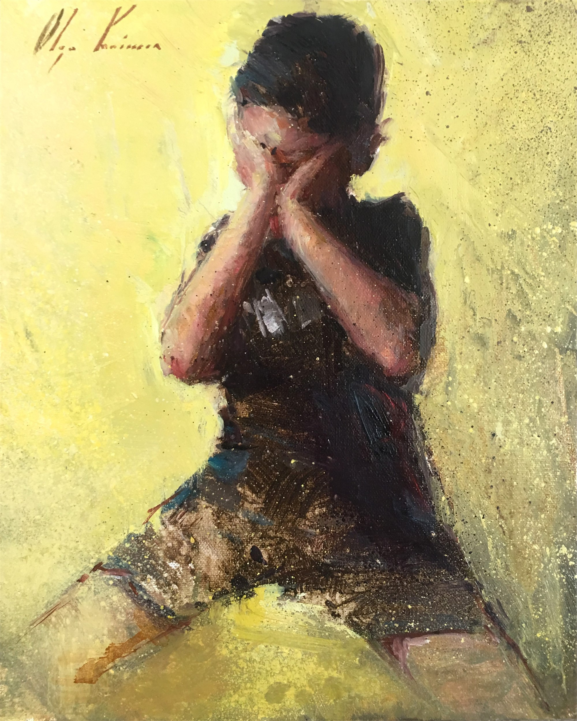 Boy on Yellow by Olga Krimon