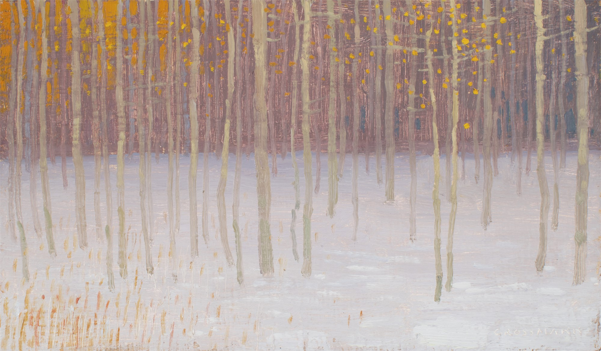 Snow and Remants of Autumn Colors by David Grossmann