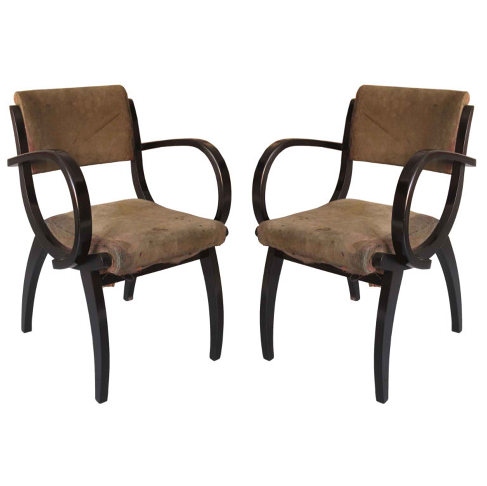 1930's French armchairs by Vintage